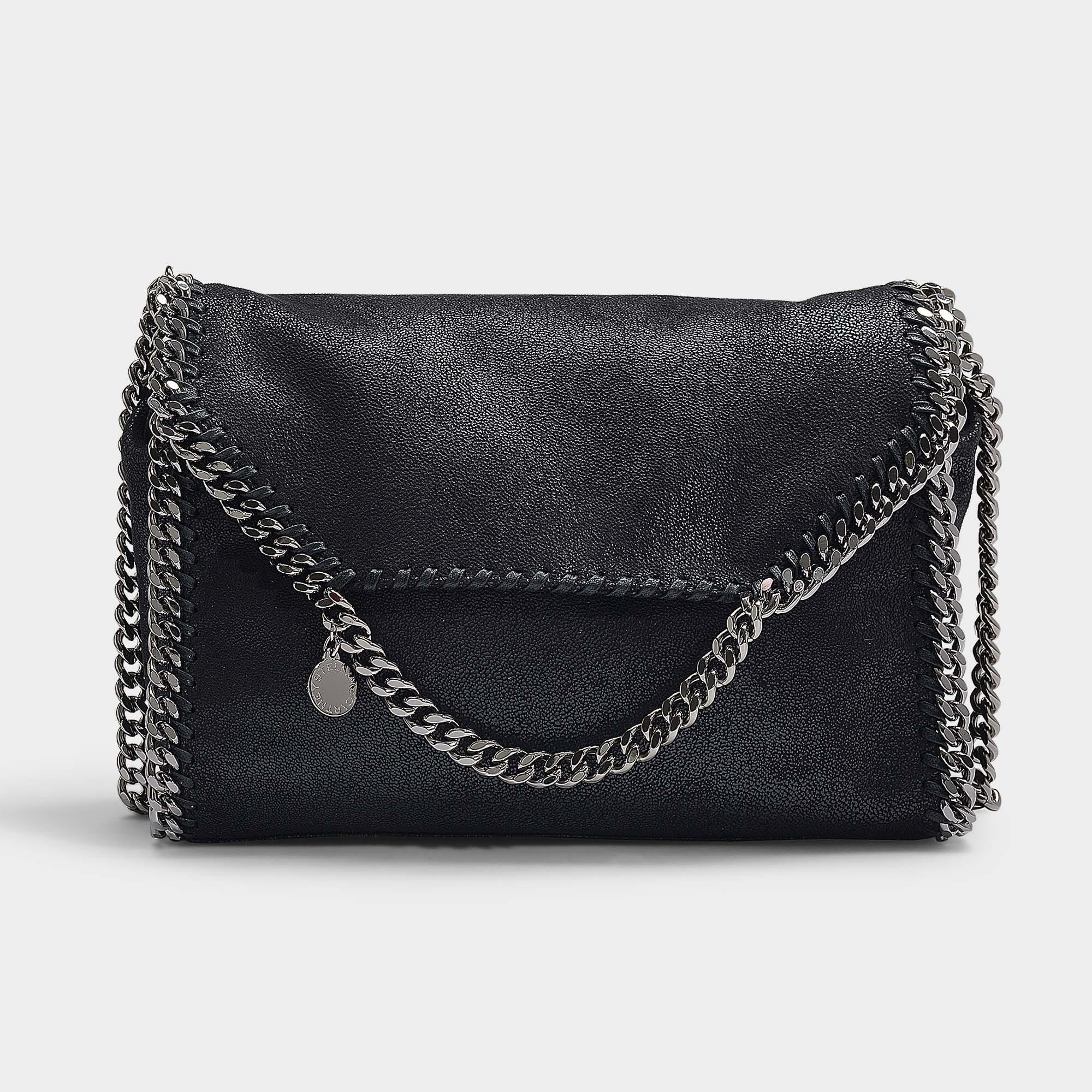 2cb834da33 Stella McCartney. Women s Falabella Big Shoulder Bag In Black Eco Leather