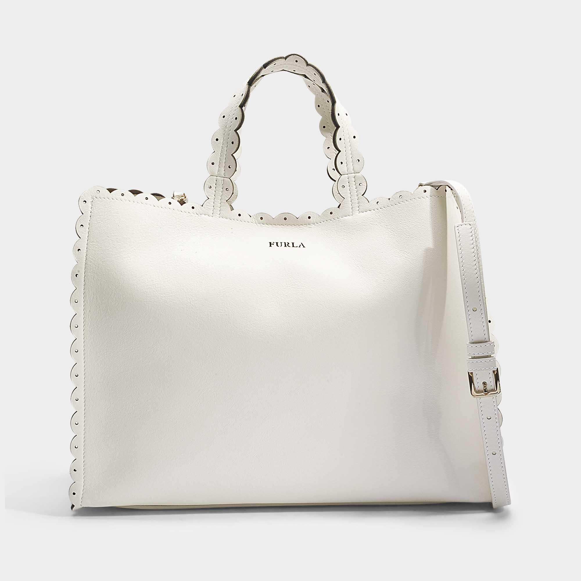 8253ec13c2 Furla - Multicolor Merletto Large Tote Bag In Petalo Calfskin - Lyst