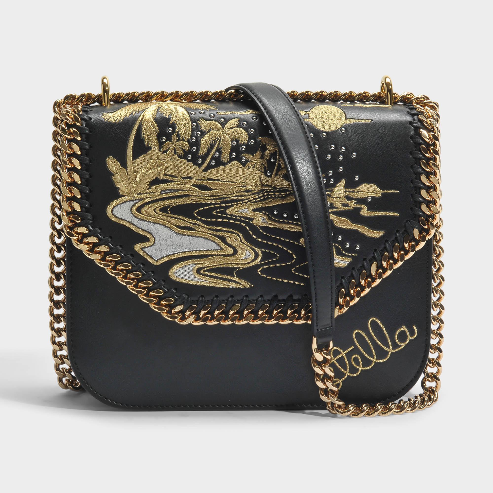c17b9a72993f Stella McCartney Hawaiian Embroidery Falabella Box Shoulder Bag In ...