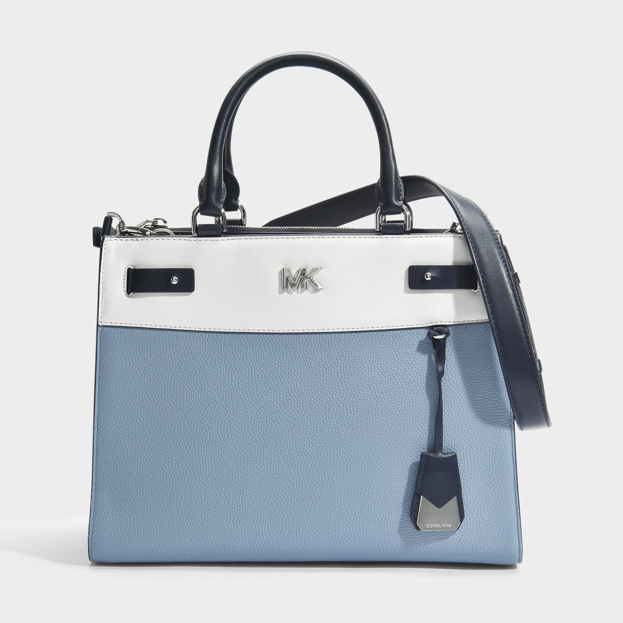 Mott Uptown Large Satchel Bag in Admiral Small Pebble Leather Michael Michael Kors REgYGF