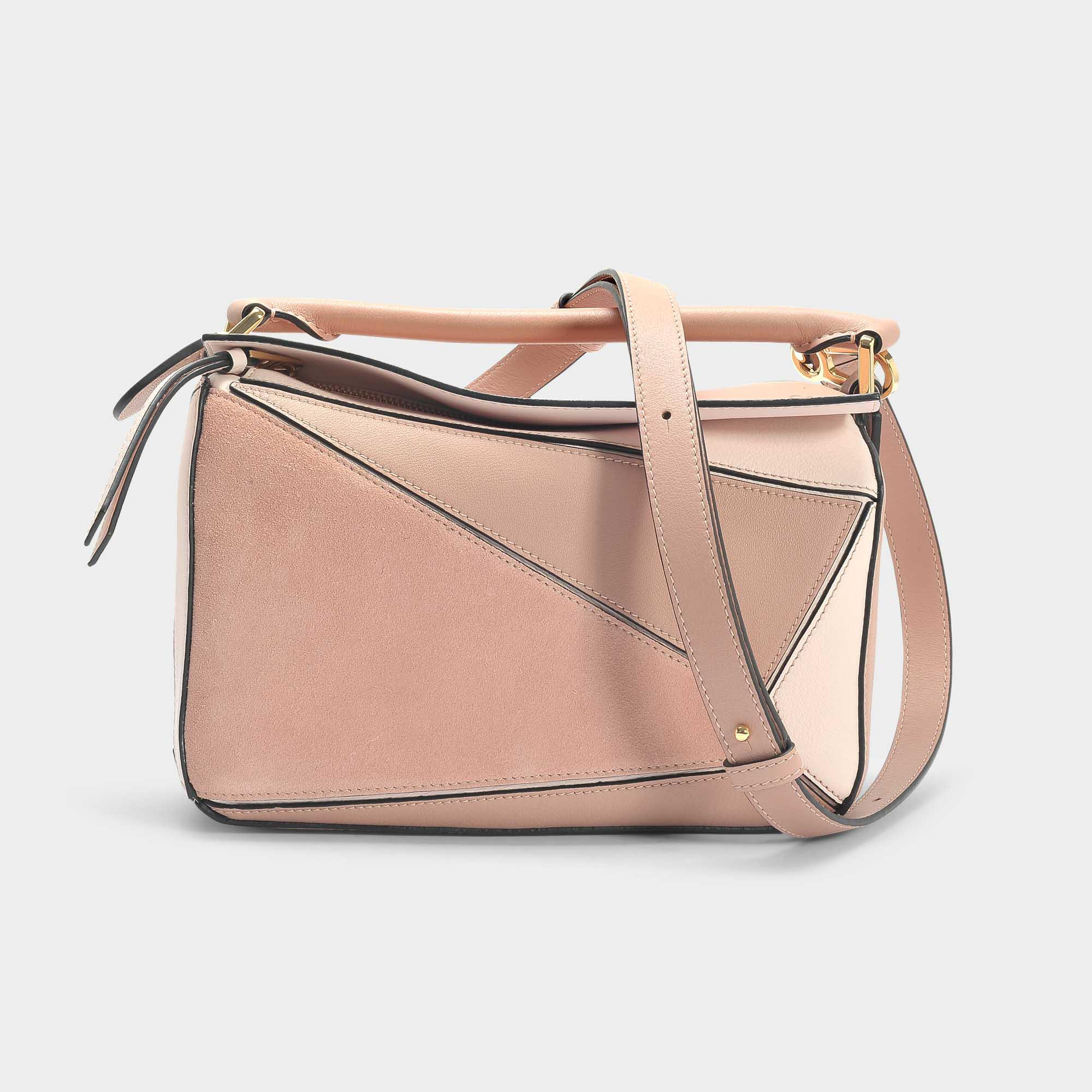 779e99c9ad0d Lyst - Loewe Puzzle Small Bag In Brown Calfskin in Pink