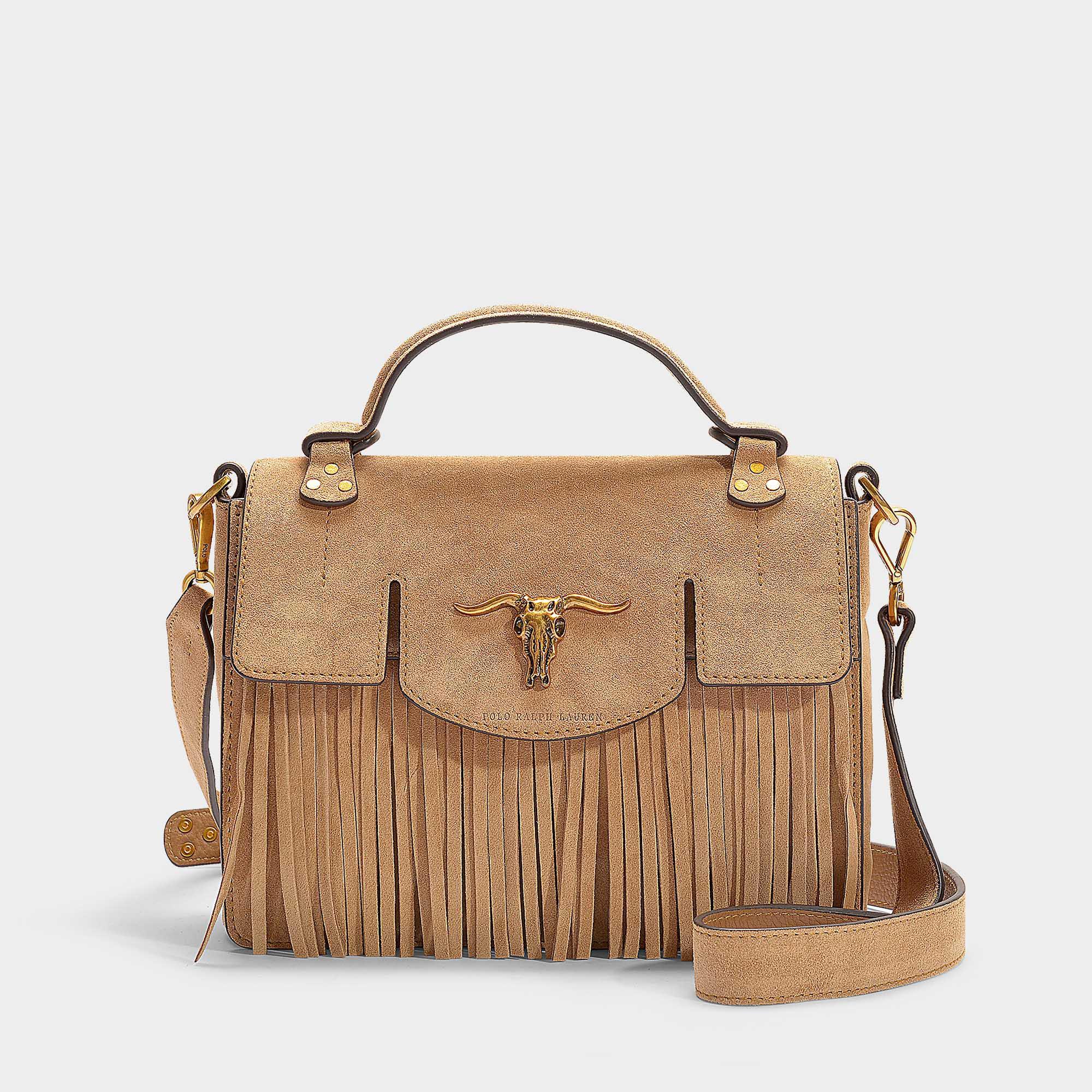 Polo Ralph Lauren Schooly Top Handle Small Bag In Brown Calfskin in ... afc470414c