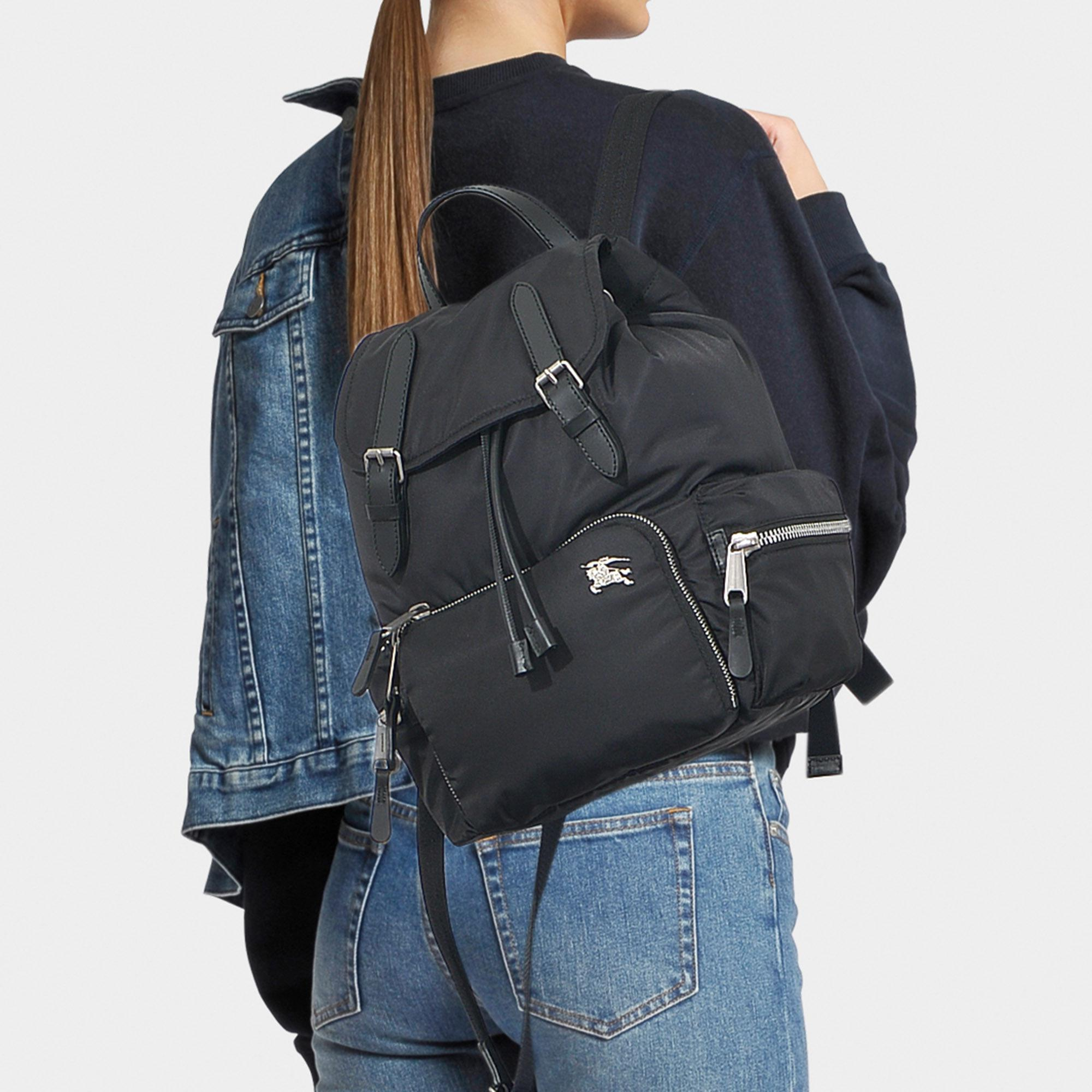 9a8125debf8a Burberry - Black The Medium Rucksack In Puffer Nylon And Leather - Lyst.  View fullscreen