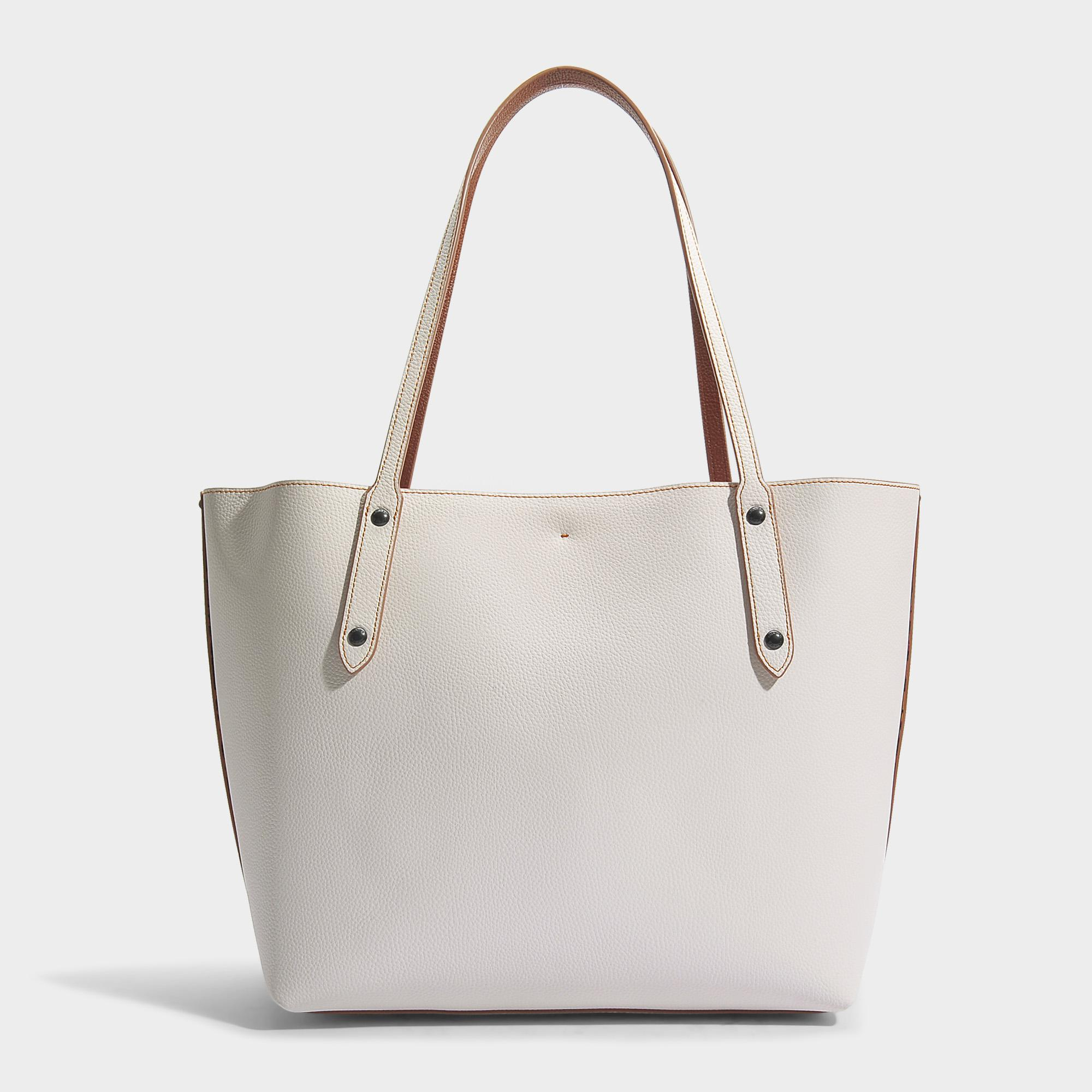 COACH Market Tote Bag In Chalk Leather