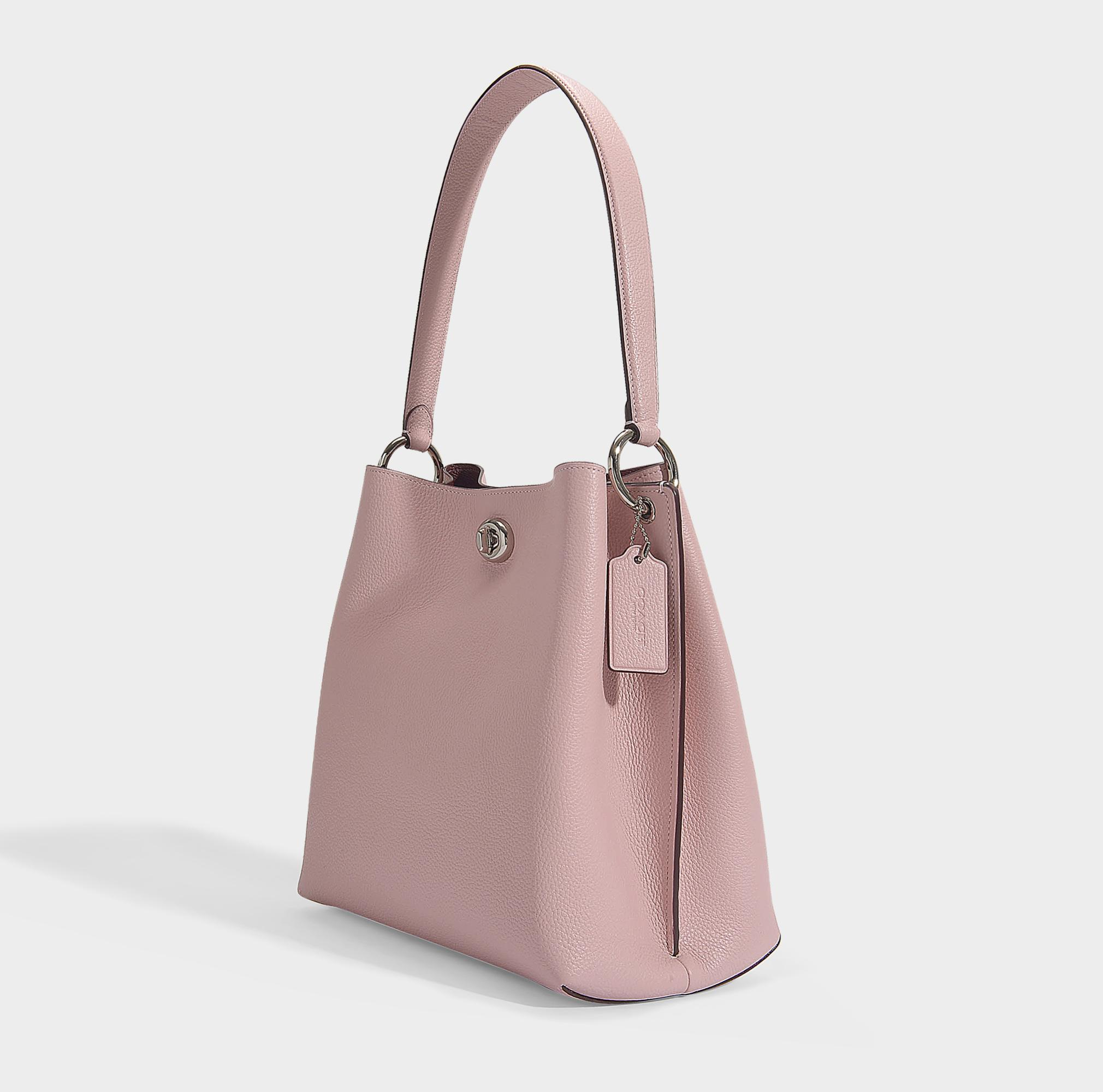 Coach Leather Polished Charlie Bucket Bag Pink Lyst