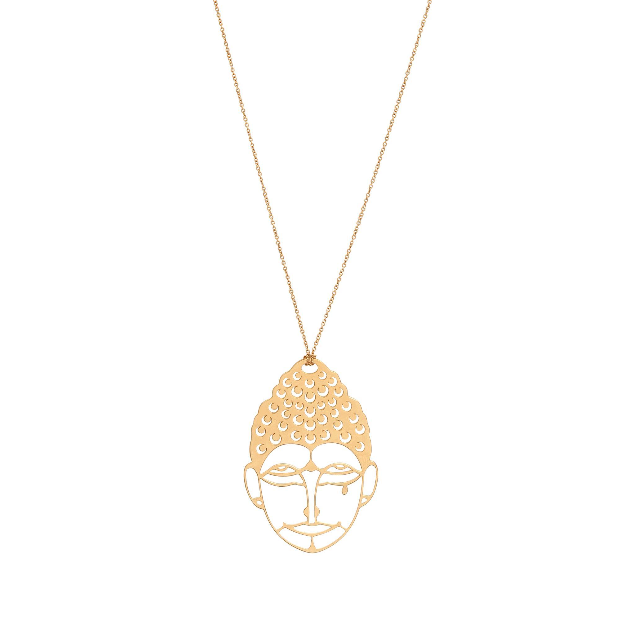 Ginette NY Buddah 18-karat rose gold necklace BFwTj28uKx