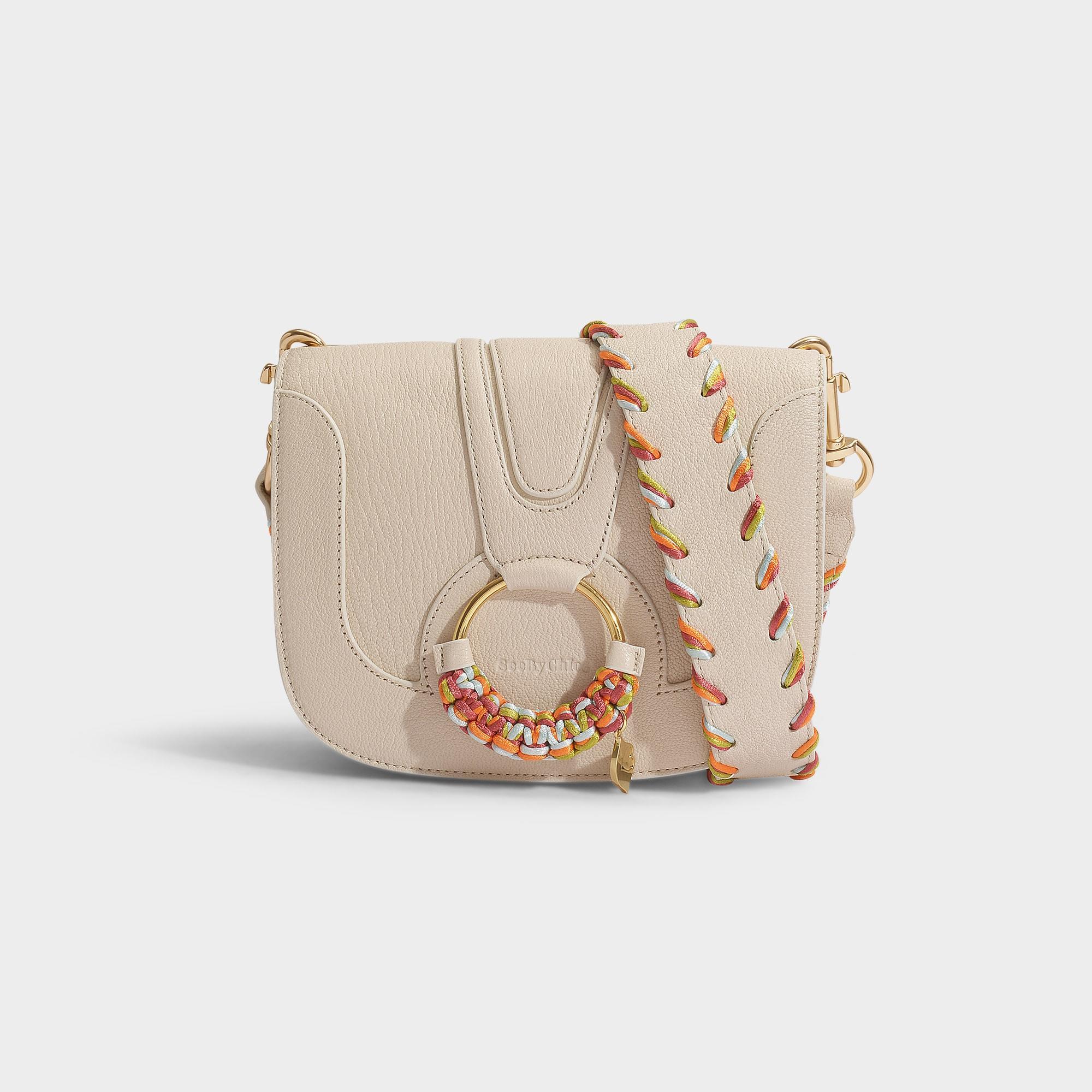 1b1c5d4d7e See By Chloé Natural Hana Medium Crossbody Bag In Cement Beige Calfskin
