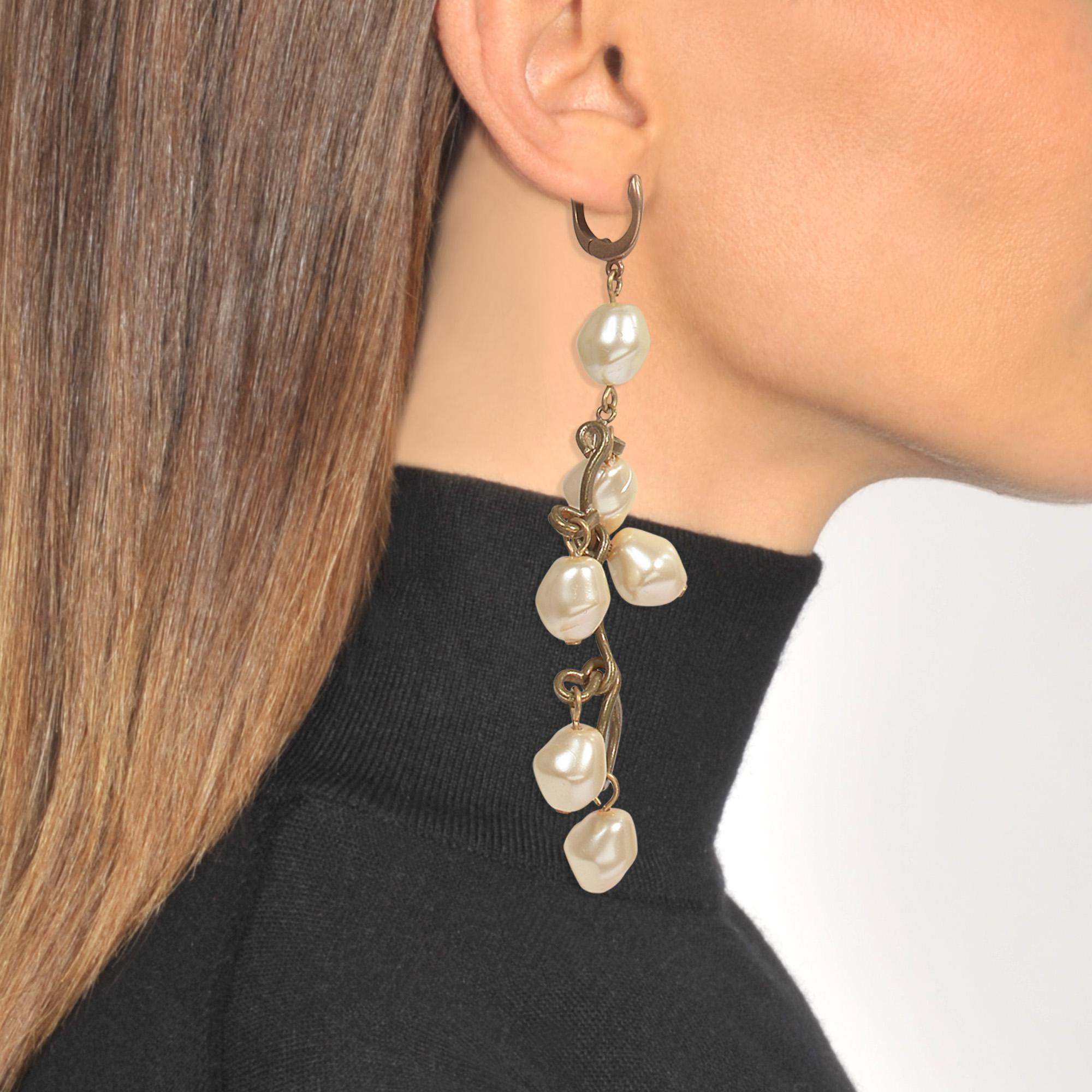 Pearls Mono Earring in Lilly White Metal Marni PJSfSOqv0u