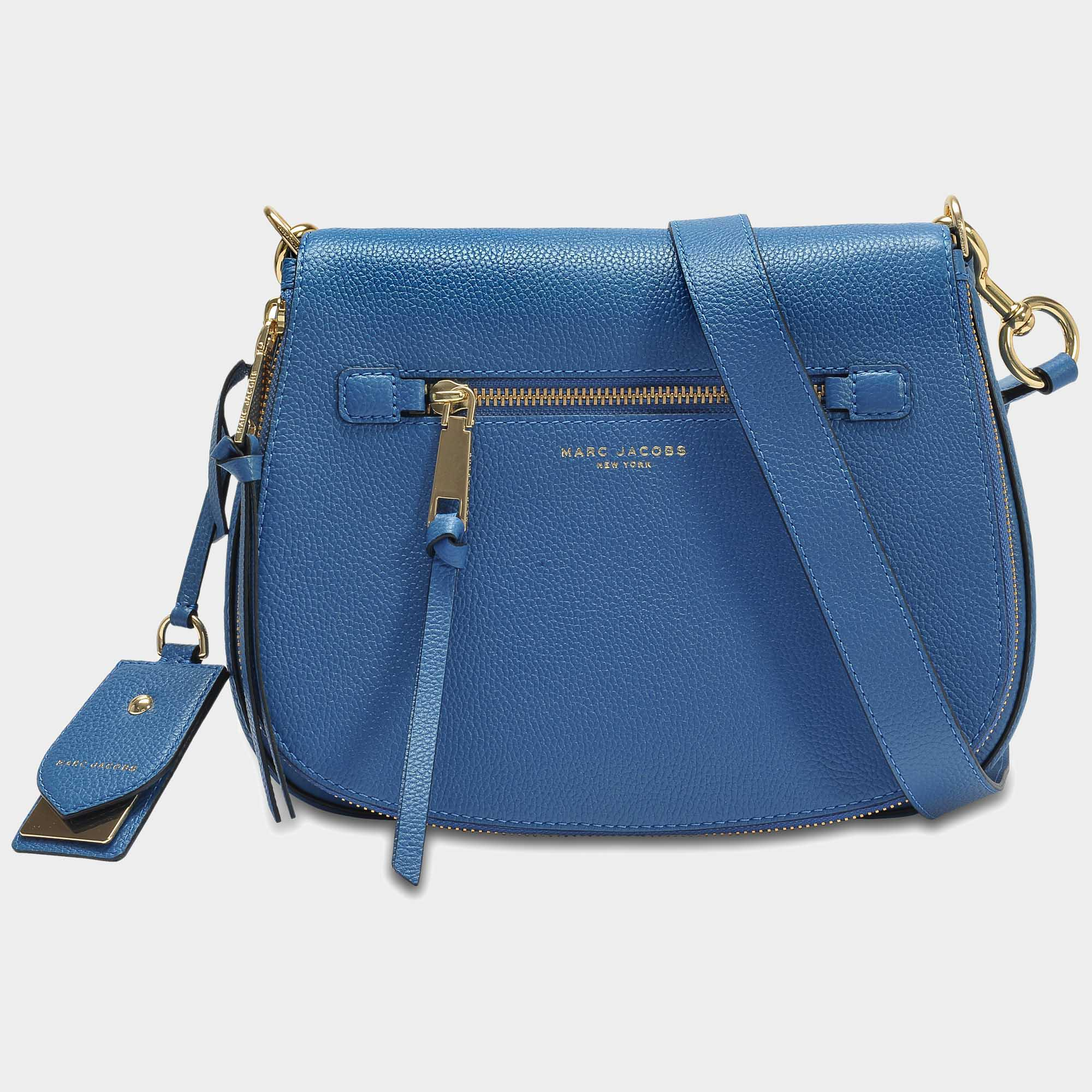 7f25ca1d1107 Lyst - Marc Jacobs Small Recruit Nomad Pebbled Leather Crossbody Bag ...