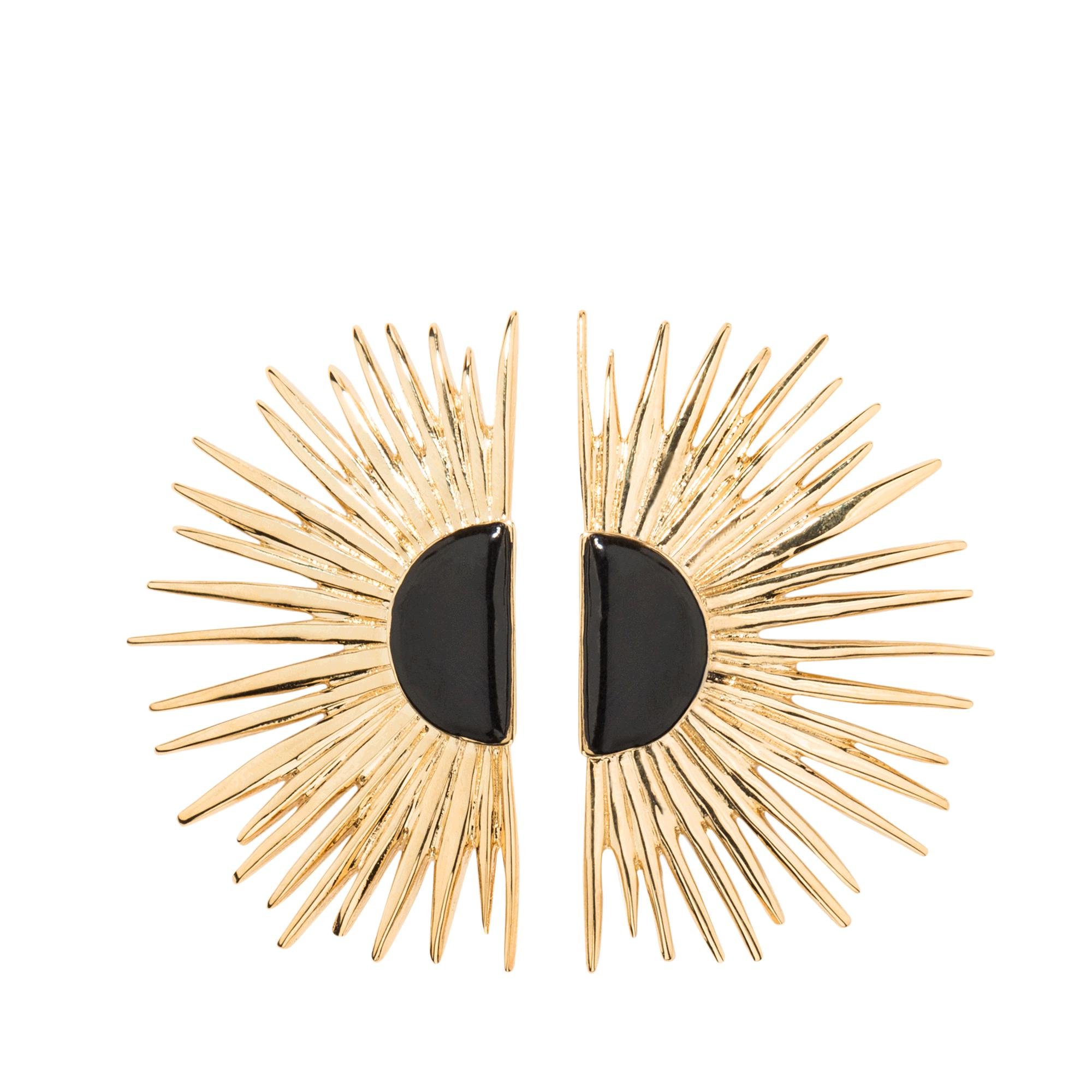 Aurélie Bidermann Duchesse pin earrings with enamel OYJMLUItT