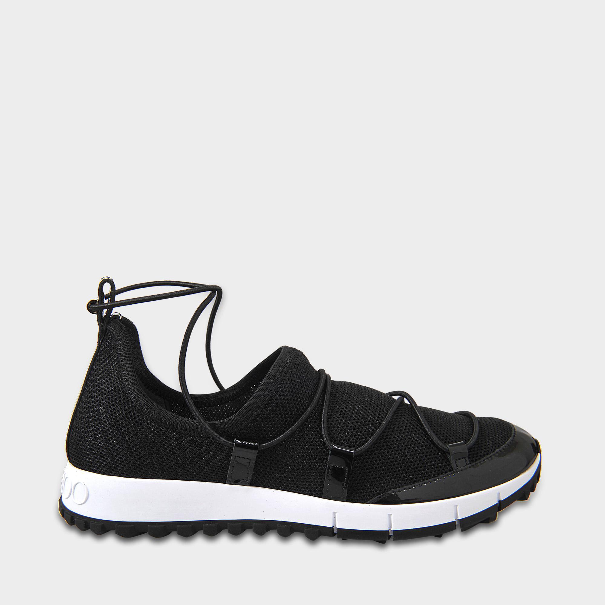 Jimmy Choo Lace 'andrea' Sneakers in Sterling Silver (Black)