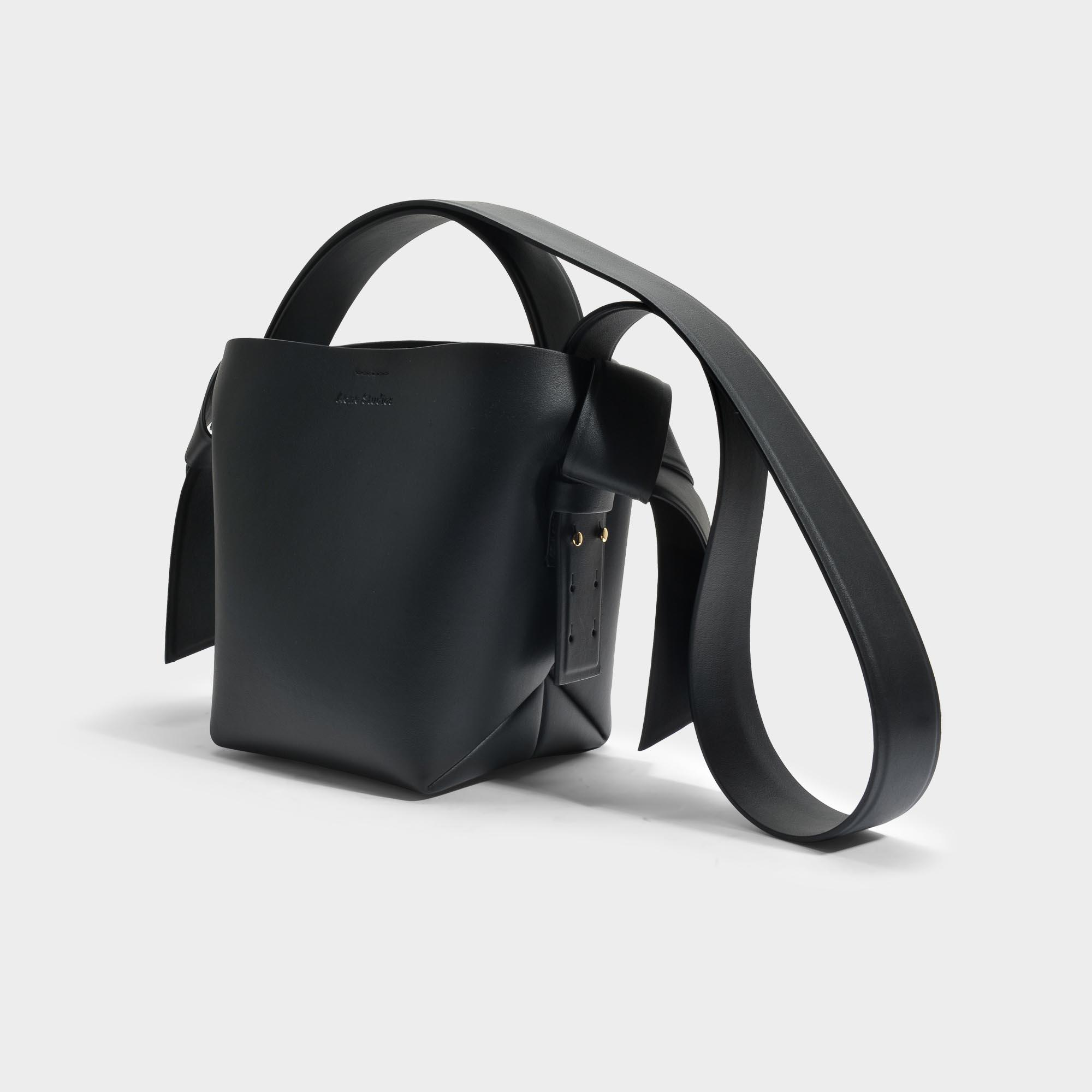 Musubi Mini Bag in Black Calf and Lamb Leather Acne Studios JYaX9wh