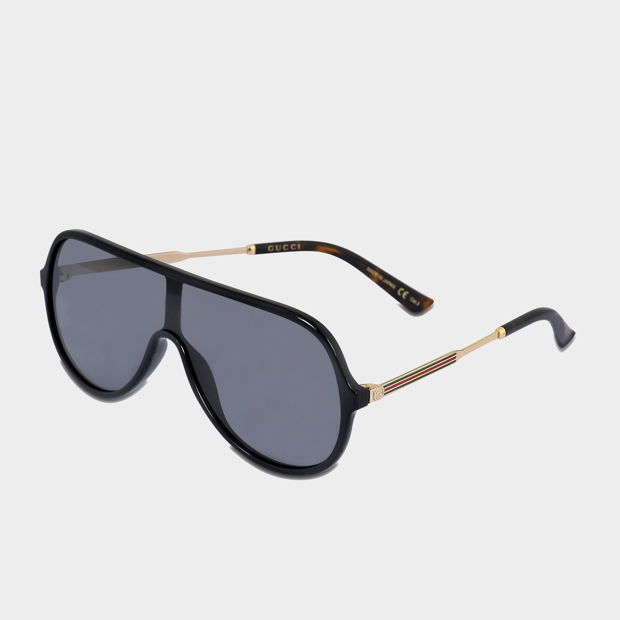 6c6e8488f7 Gucci Aviator Sunglasses In Shiny Endura Gold-dark Havana Injection ...