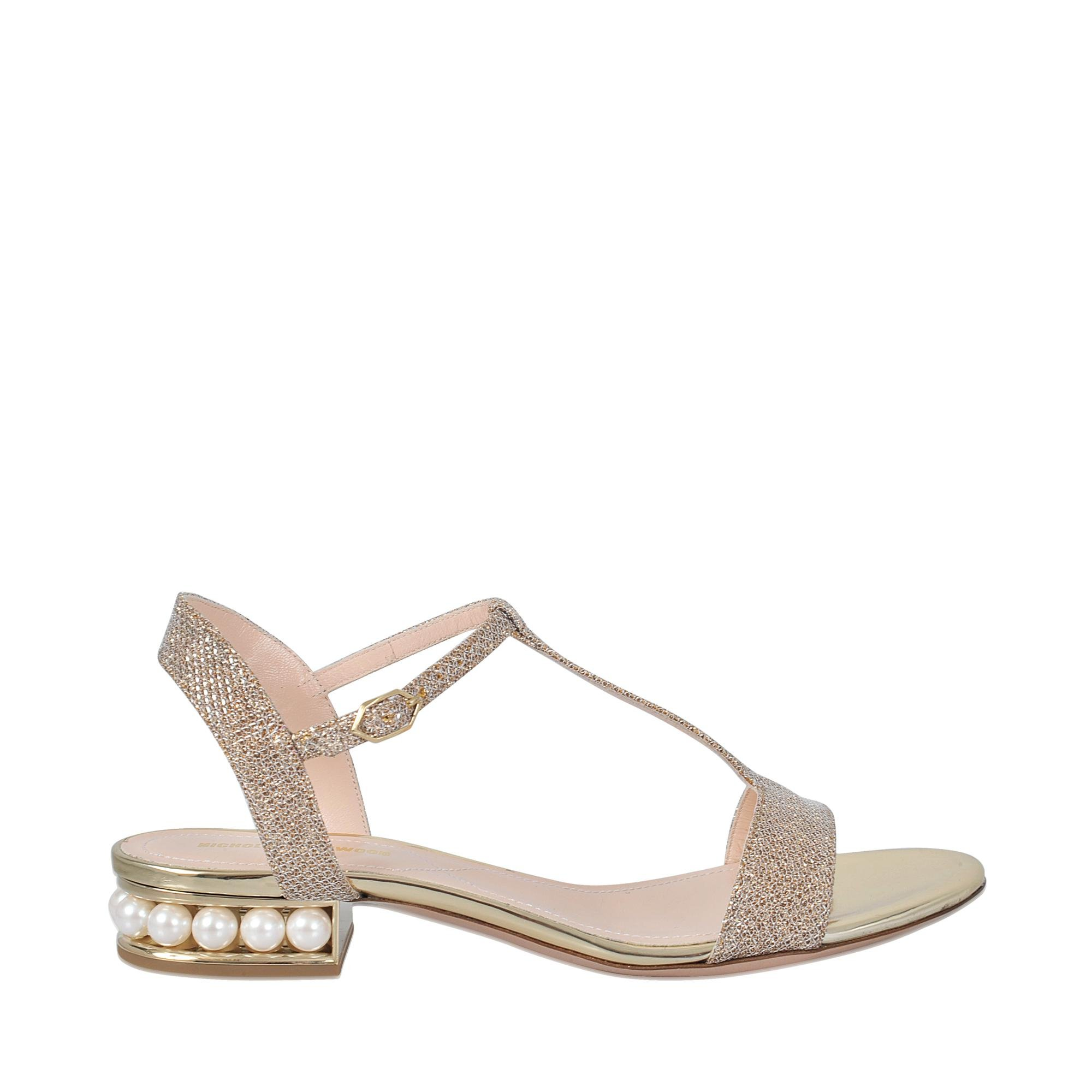 Sale Amazing Price Casati Pearl T-Bar sandals - Metallic Nicholas Kirkwood The Cheapest Sale Online Marketable Online LsmKj