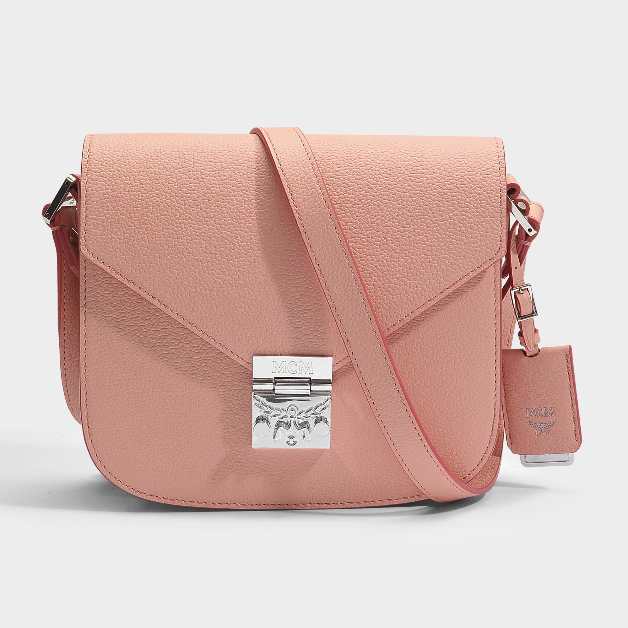 Large Wallet with Center Zip and Chain in Blush Pink Park Avenue Leather MCM ICtWsj