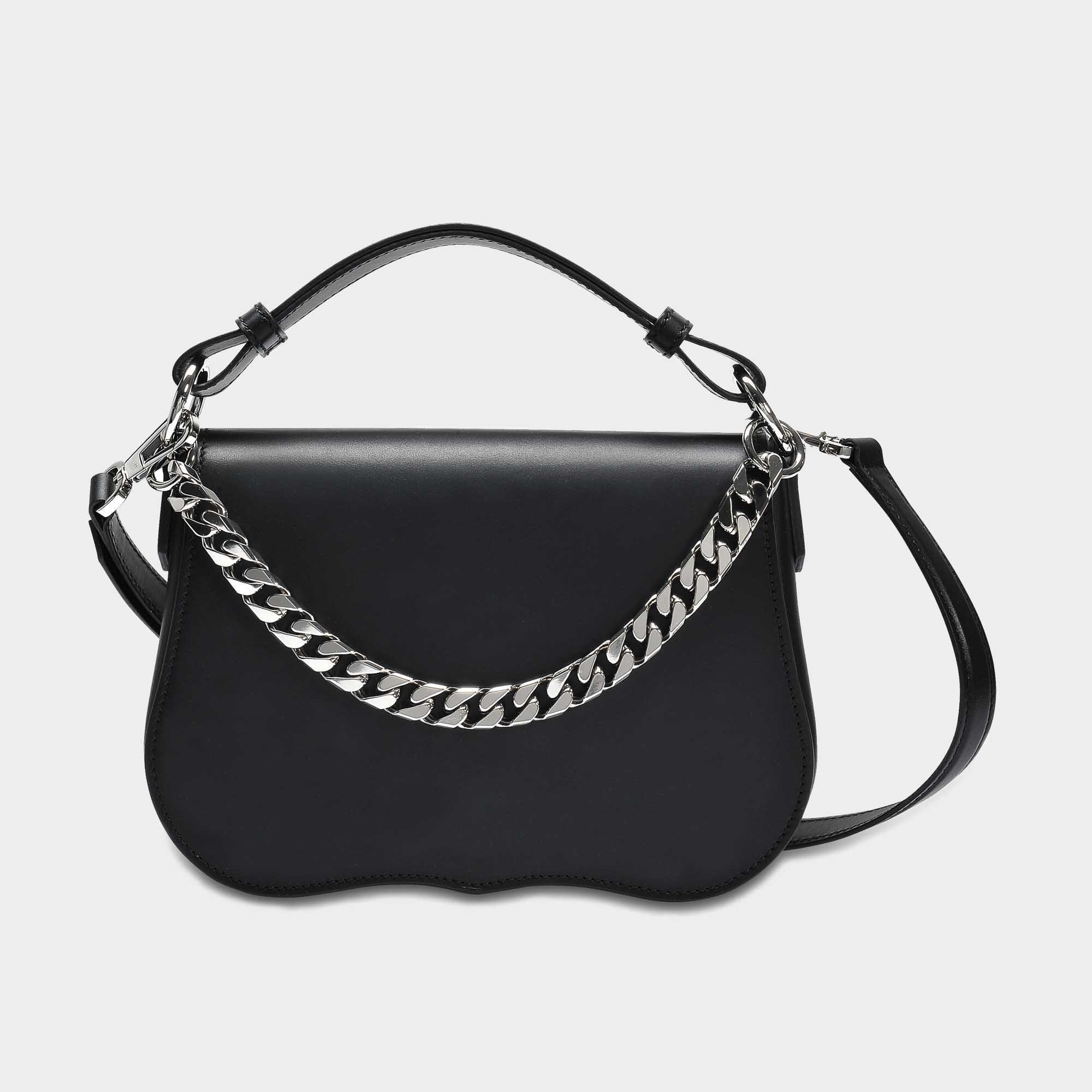 Small Shoulder Bag with Chain in Black Calfskin CALVIN KLEIN 205W39NYC 7sxpx
