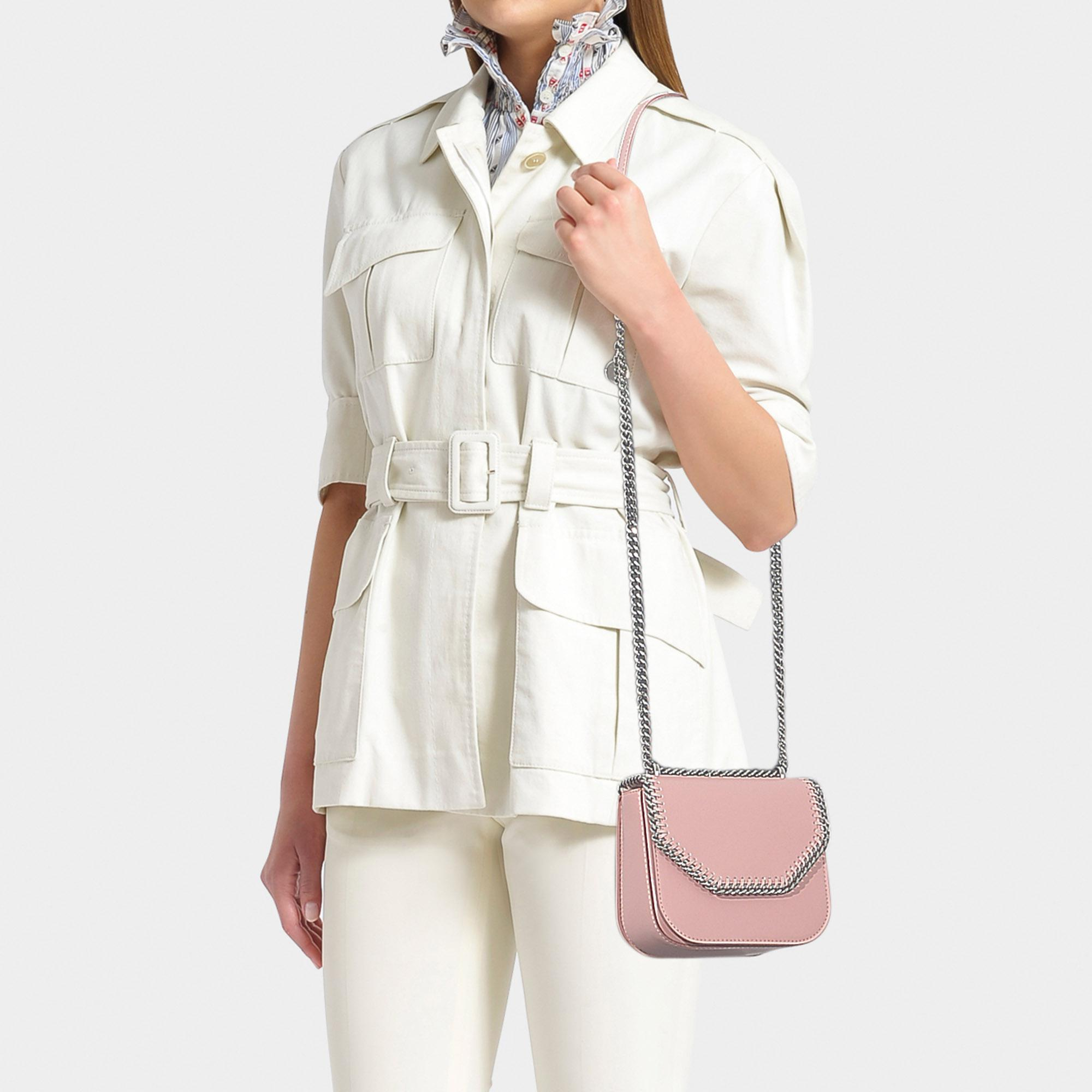 59c5335528d4 Stella McCartney - Pink Mini Falabella Box Shoulder Bag In New Blush  Synthetic Material - Lyst. View fullscreen