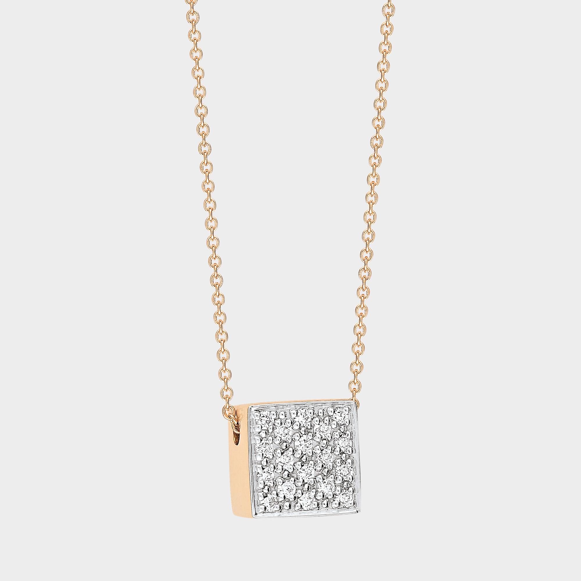 Baby Disc 18-karat rose gold necklace Ginette NY 9EDPw1P4G