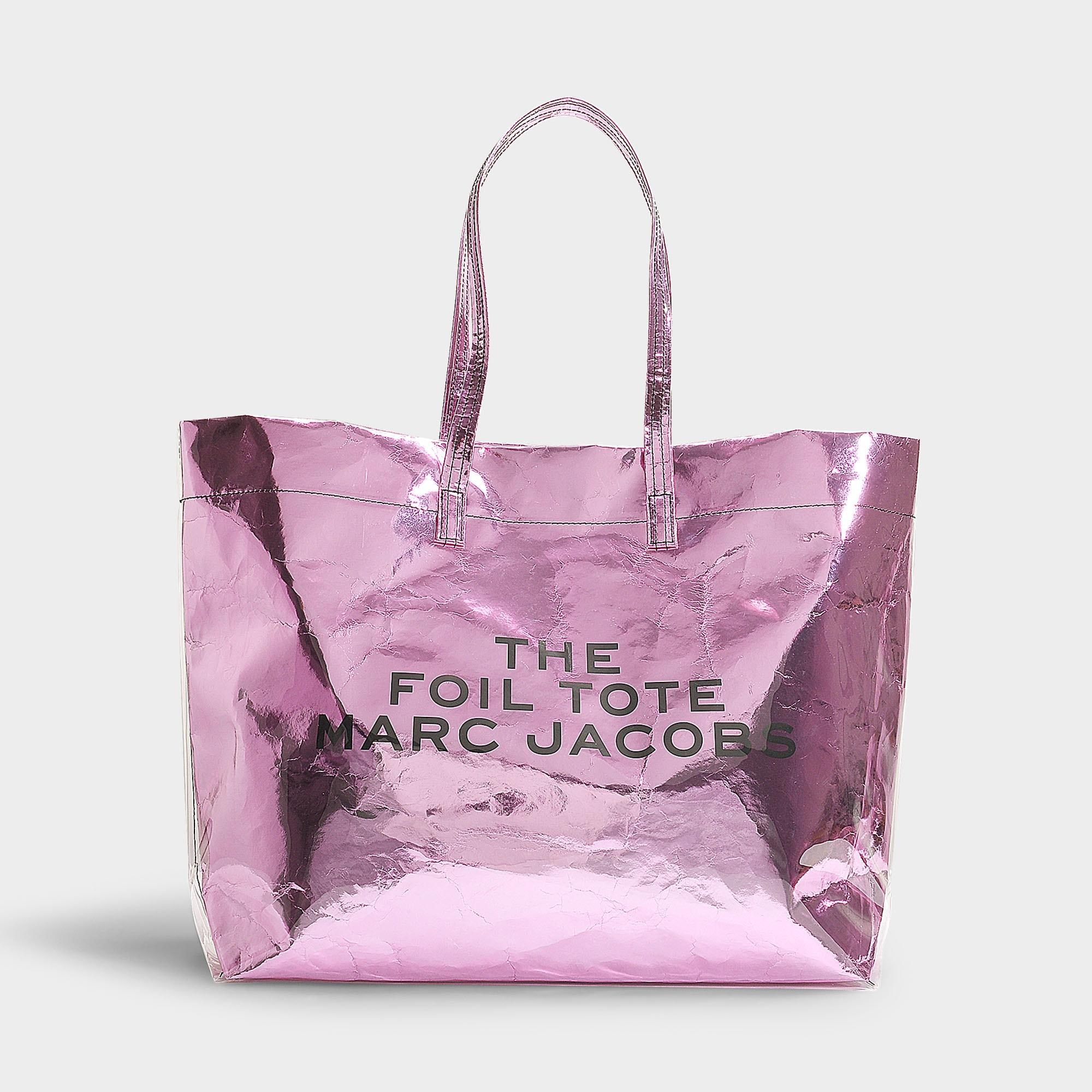 573cd5a30320 Lyst - Marc Jacobs The Foil Tote In Pink Mixed Materials in Pink ...