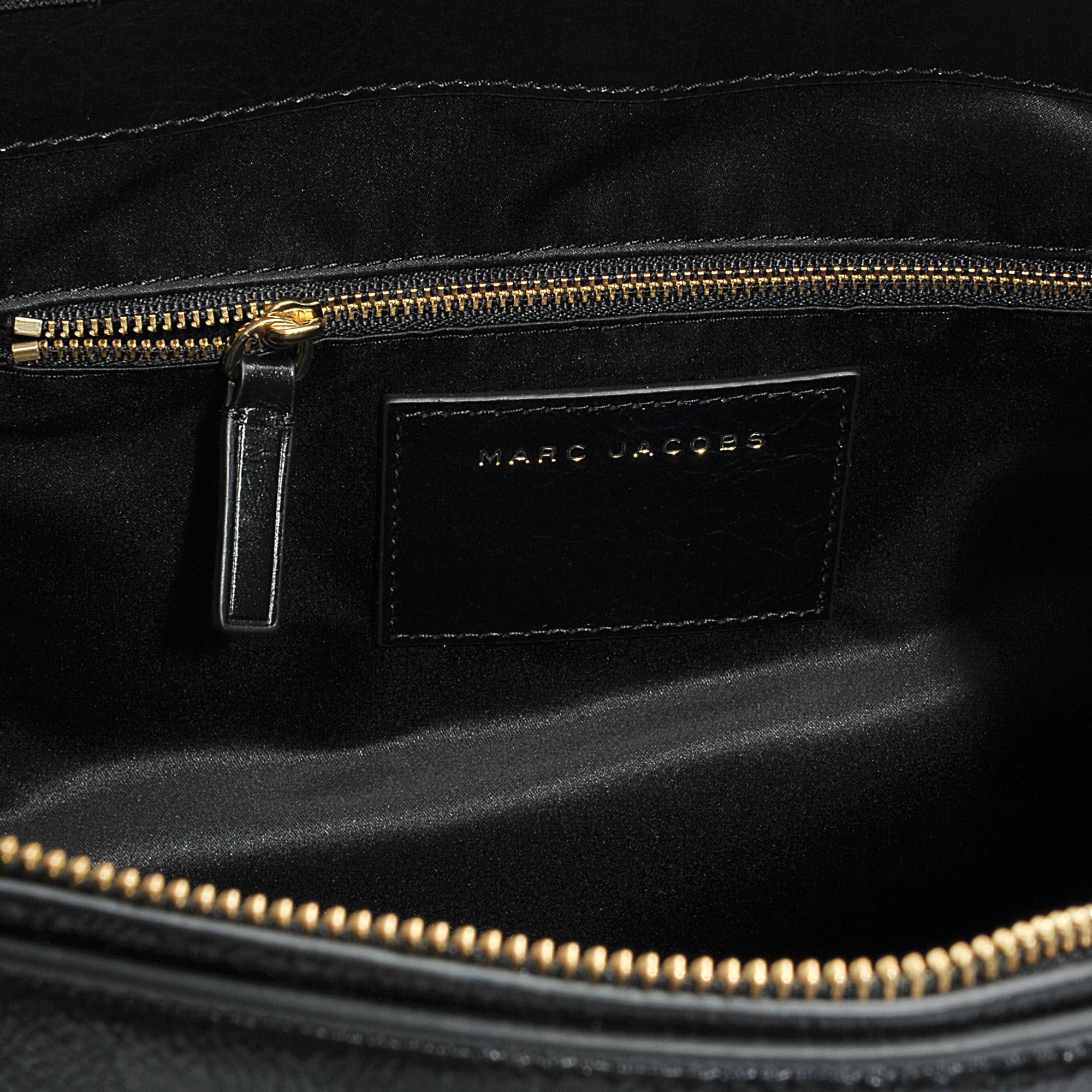Marc Jacobs Sport Tote Bag In Black Calfskin
