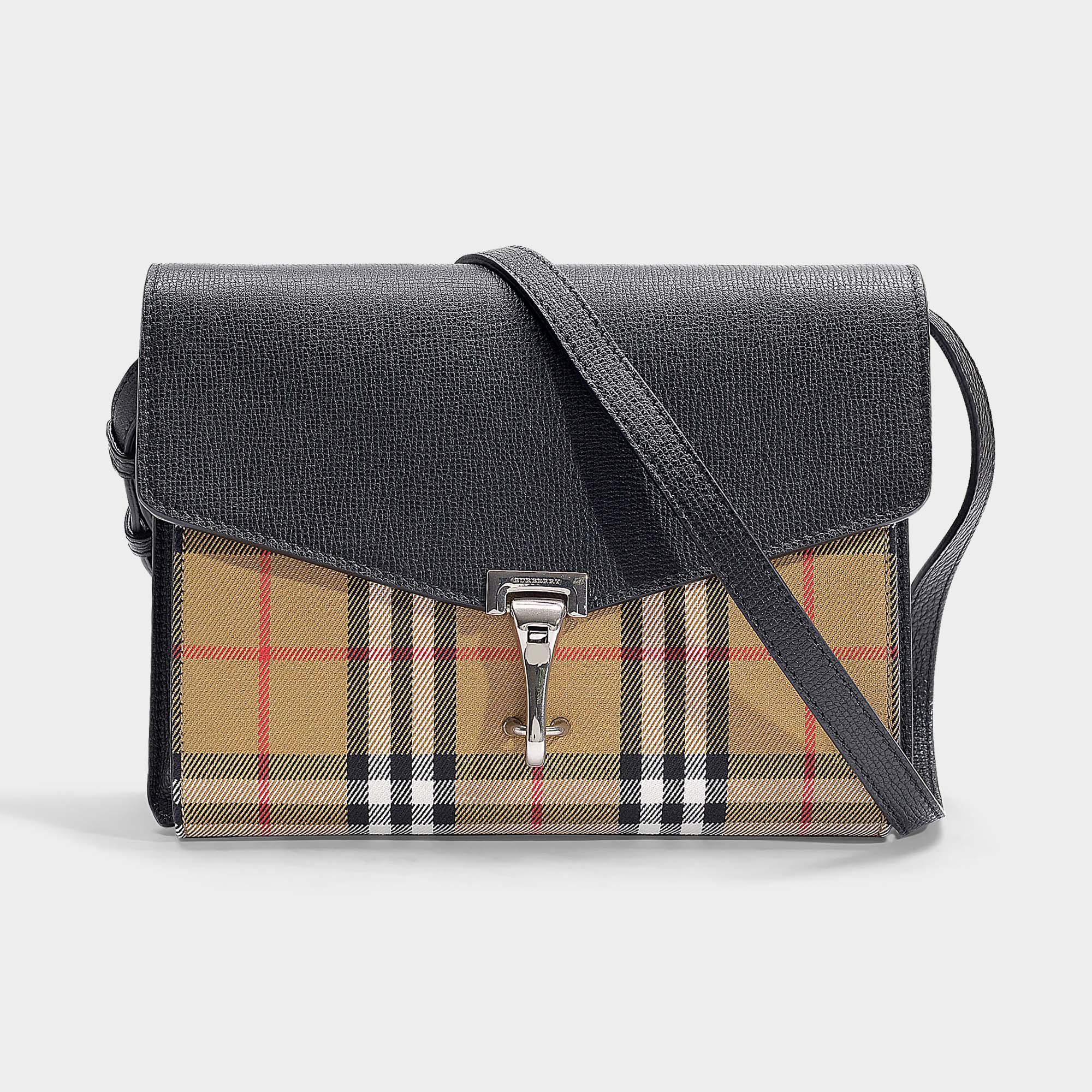 32e780b1bf00f Kleine Check Leder Burberry Aus Gewebe Crossbody Vintage Und Tasche 35RLAqj4