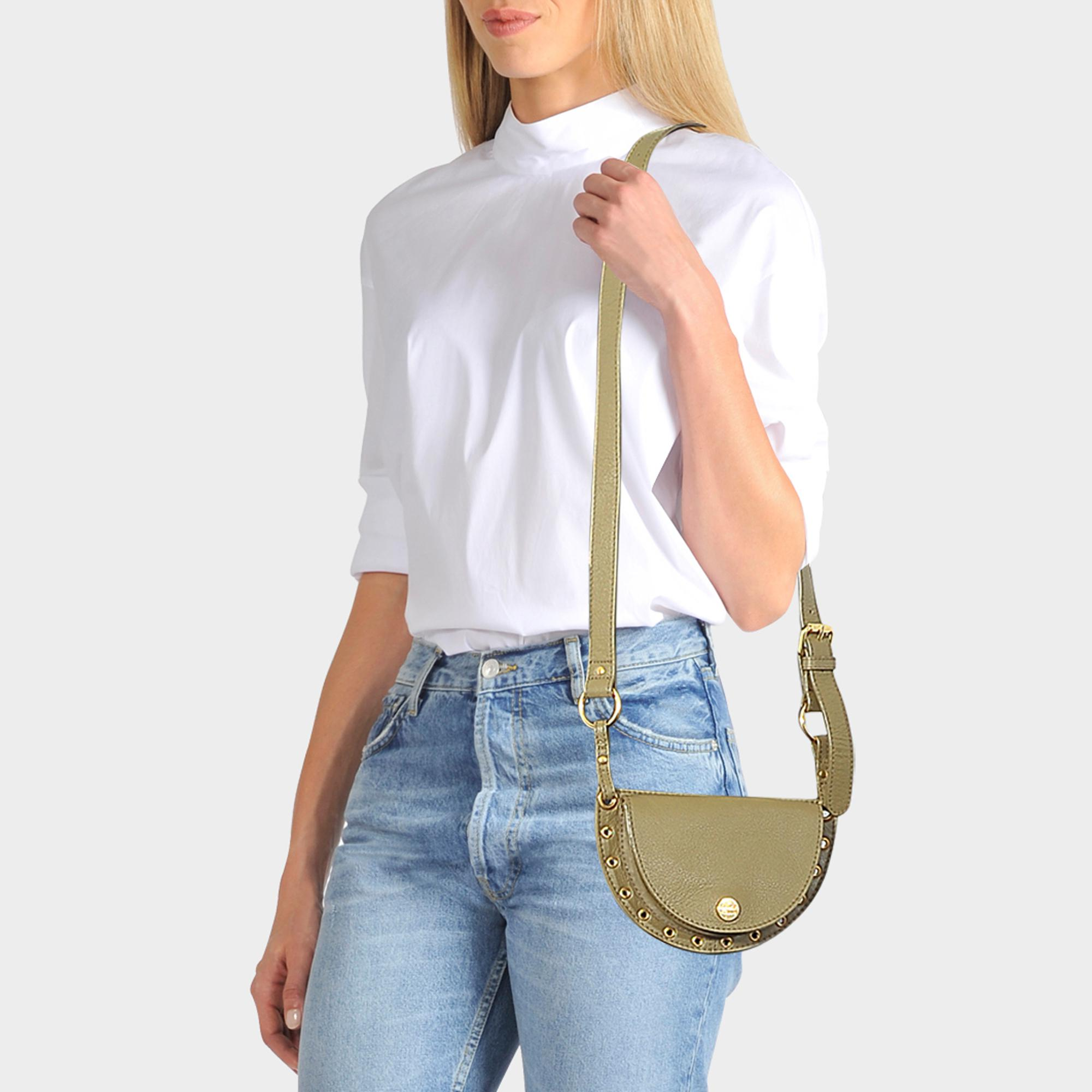 See By Chloé Kriss Belt And Crossbody Mini Shoulder Bag in Green