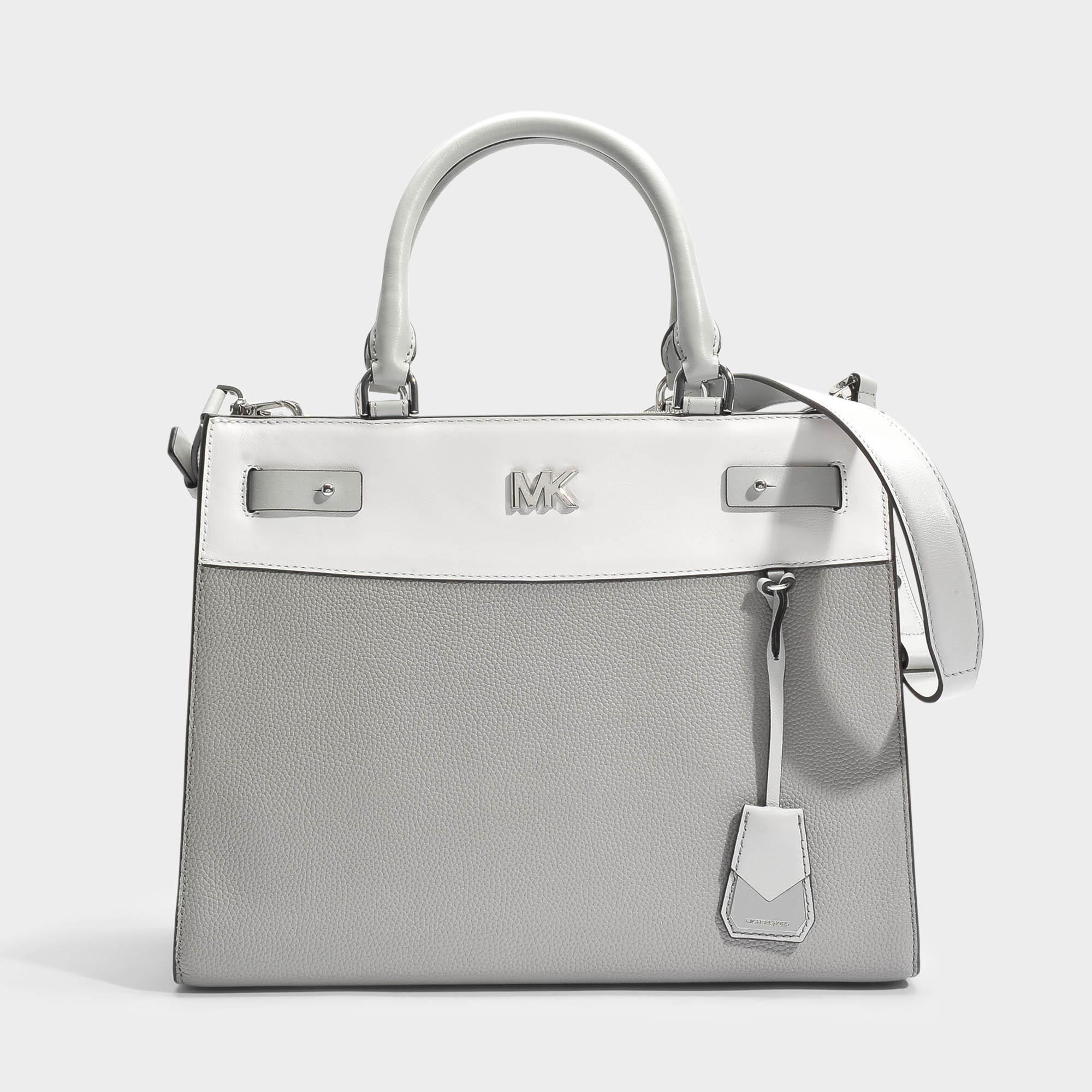 Mott Uptown Large Satchel Bag in Admiral Small Pebble Leather Michael Michael Kors UcuSm