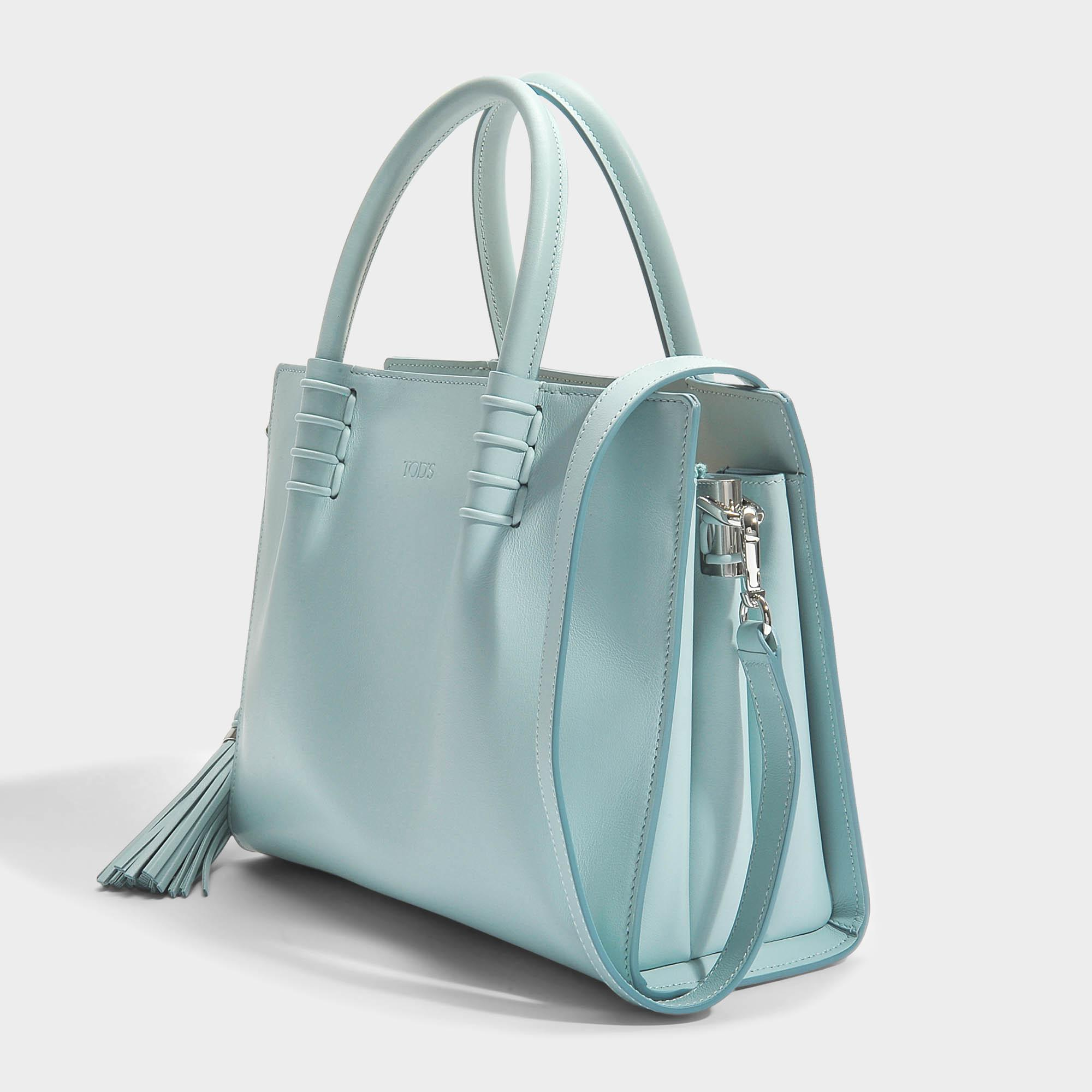 Moc Shopping Small Lady Calfskin In Blue Tods Bag 1nzxbw7xv At