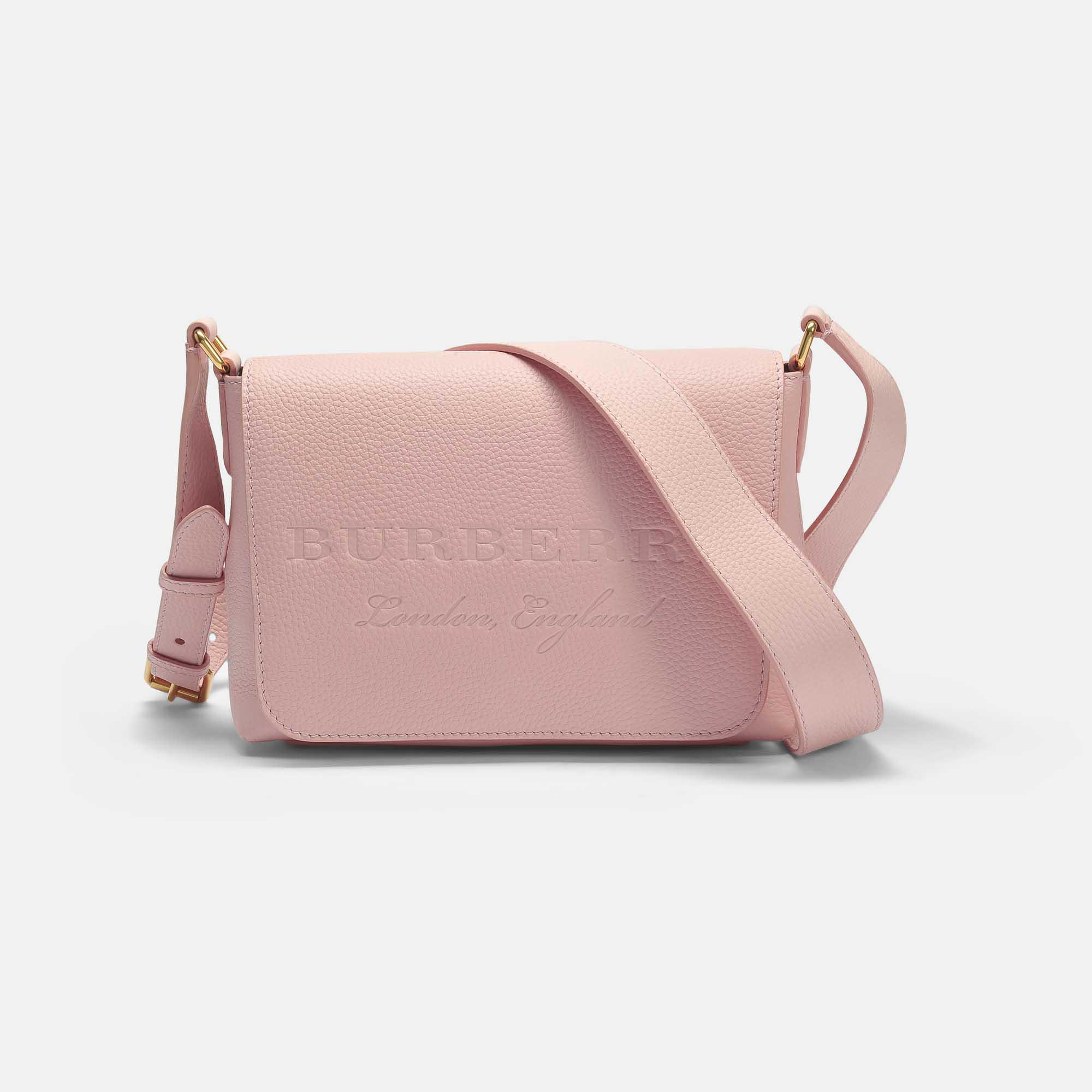 cce0ea6ca62 Burberry Small Burleigh Crossbody Bag In Pale Ash Rose Grained ...