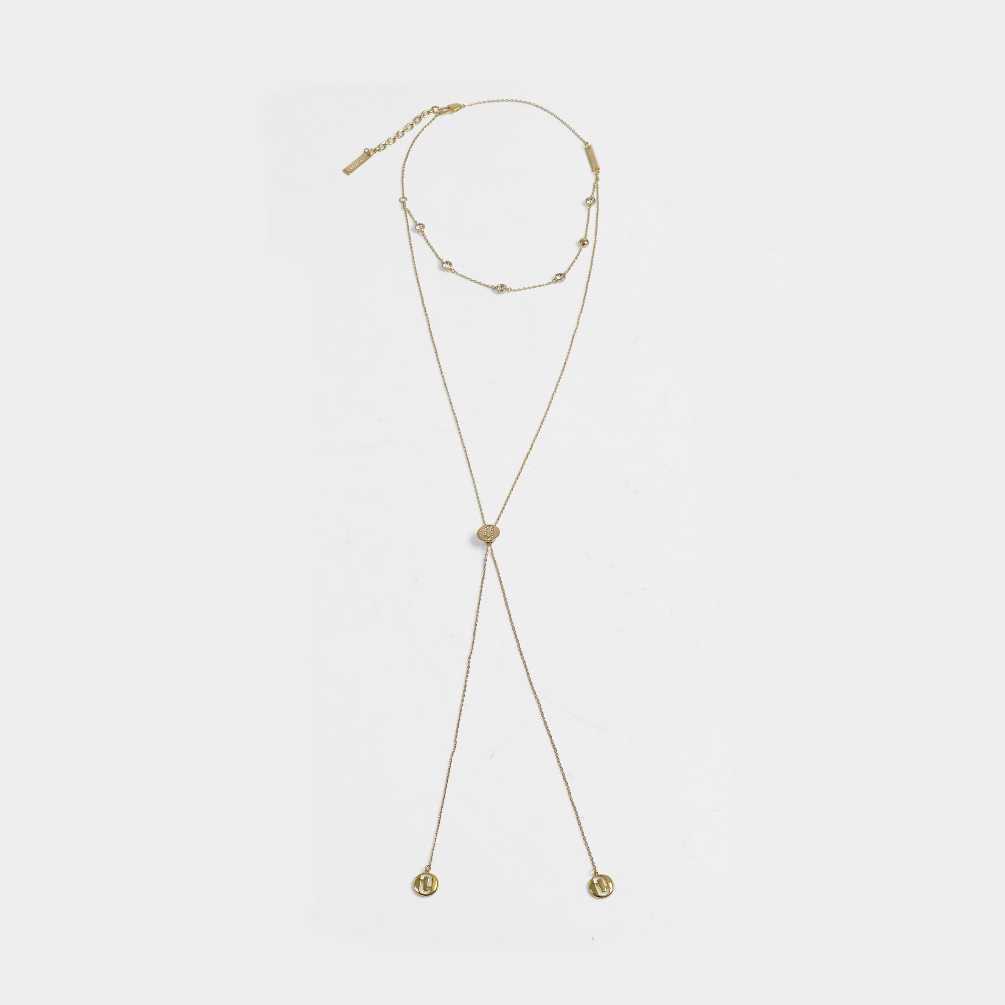 Marc Jacobs Double J Pave Layered Necklace