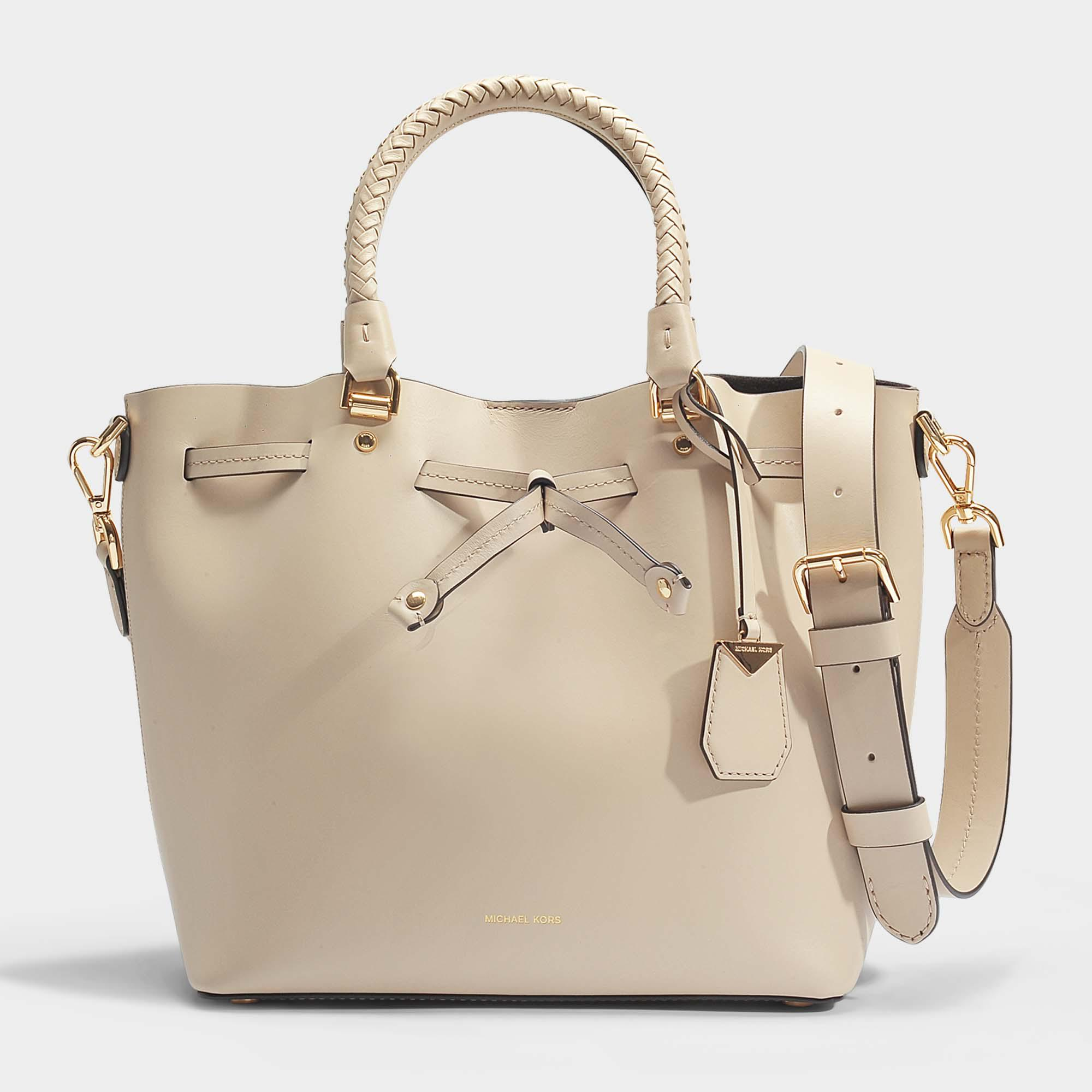 c2b6f63ad0d9bc MICHAEL Michael Kors Blakely Medium Bucket Bag In Oat Viola Leather ...