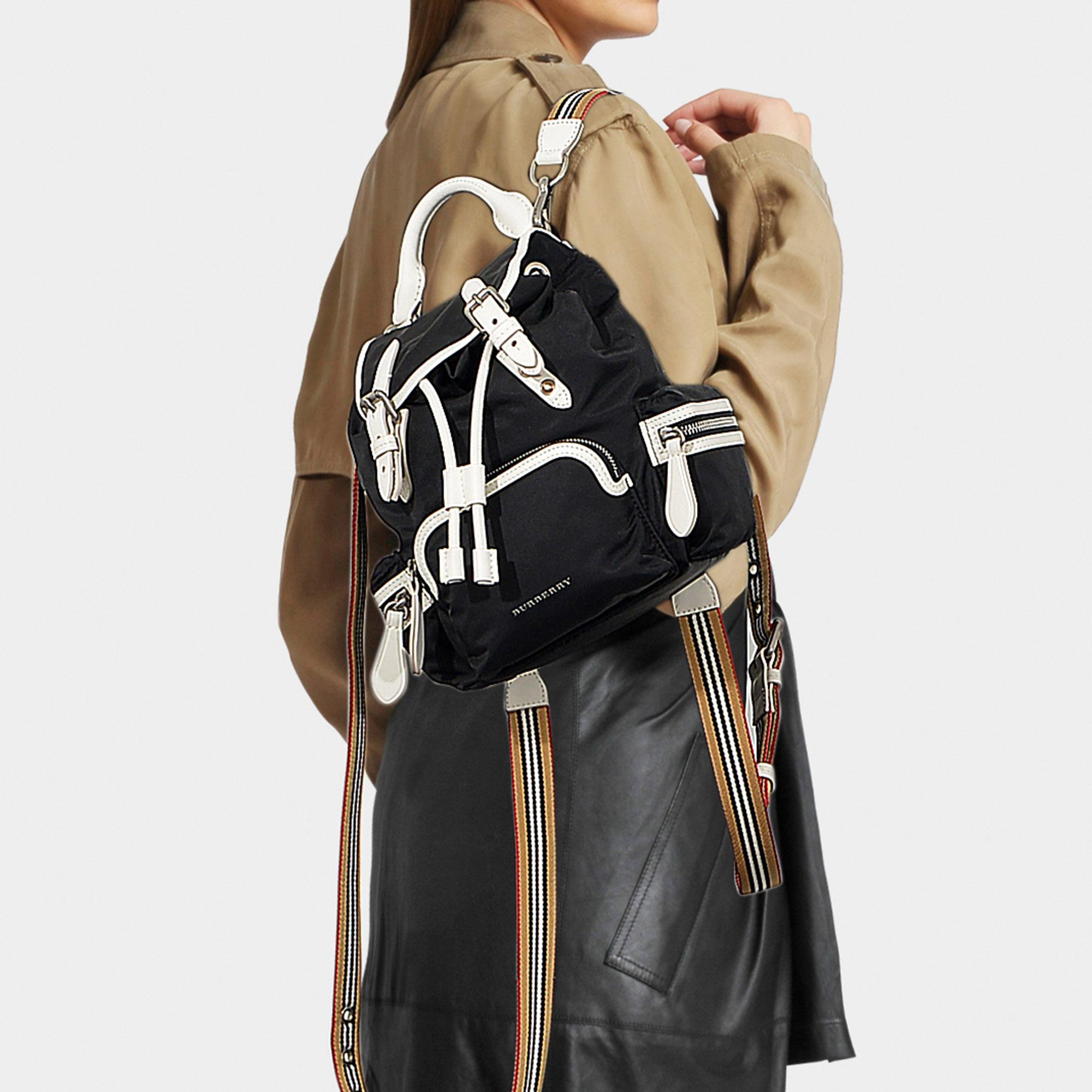 Lyst - Burberry The Rucksack Small Backpack In Black Nylon in Black a53554fd1d951