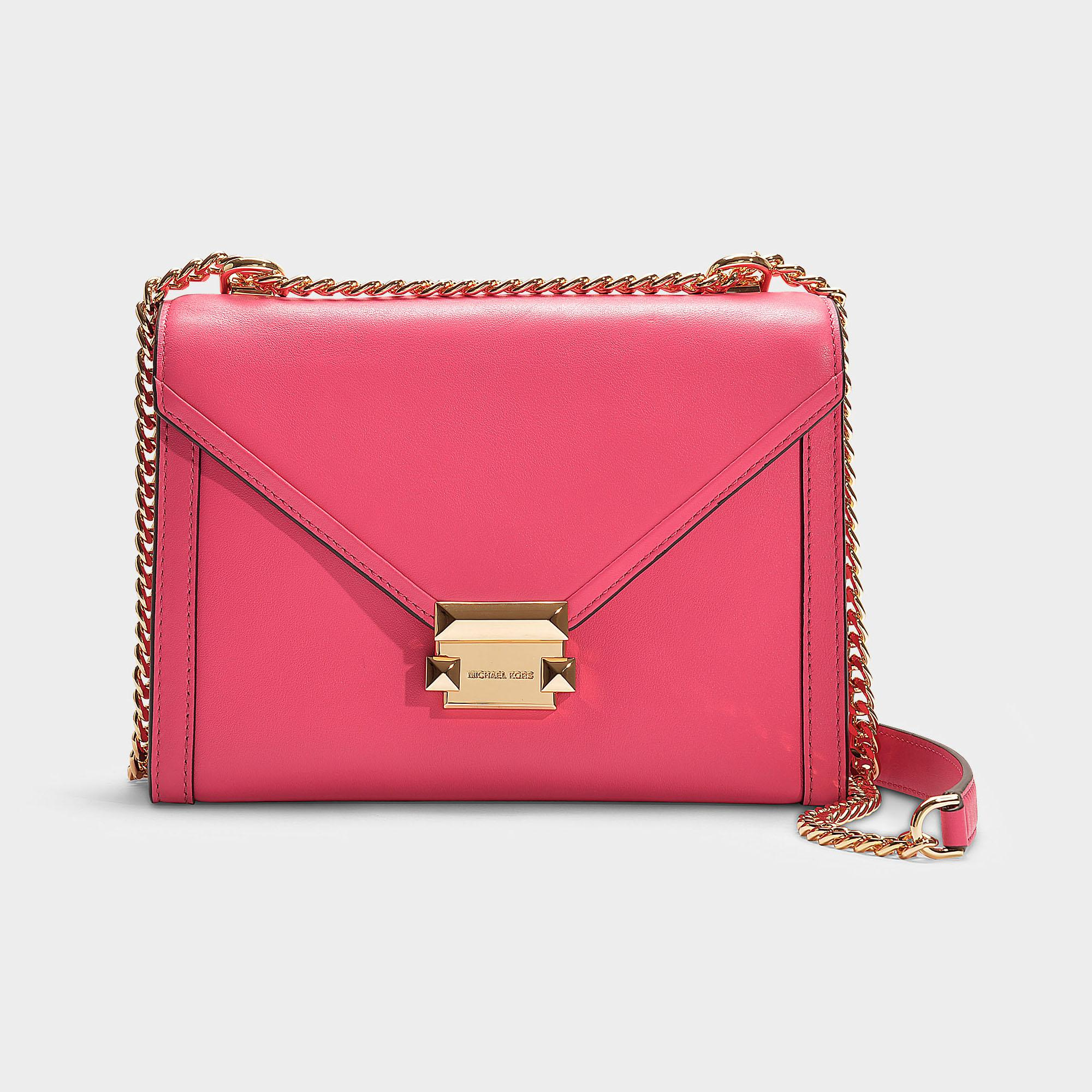6d3ac33cd4b2 Lyst - MICHAEL Michael Kors Whitney Large Shoulder Bag In Pink ...