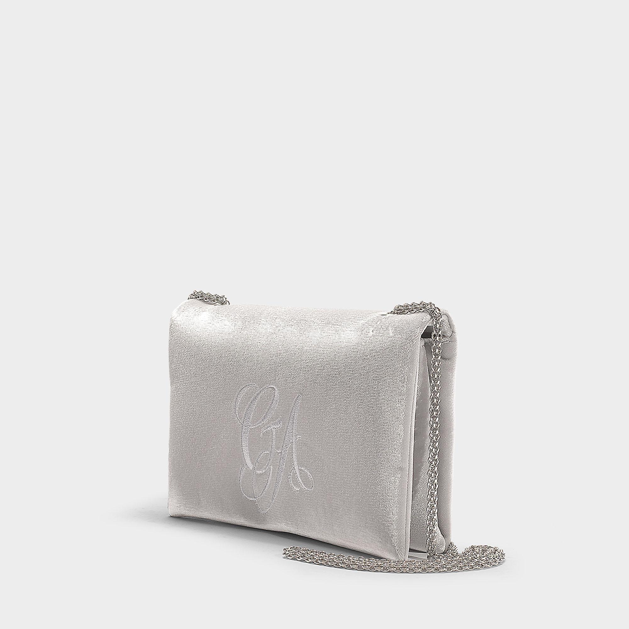 Giorgio Armani - Gray Sling Bag In Grey Cotton - Lyst. View fullscreen 984964897a