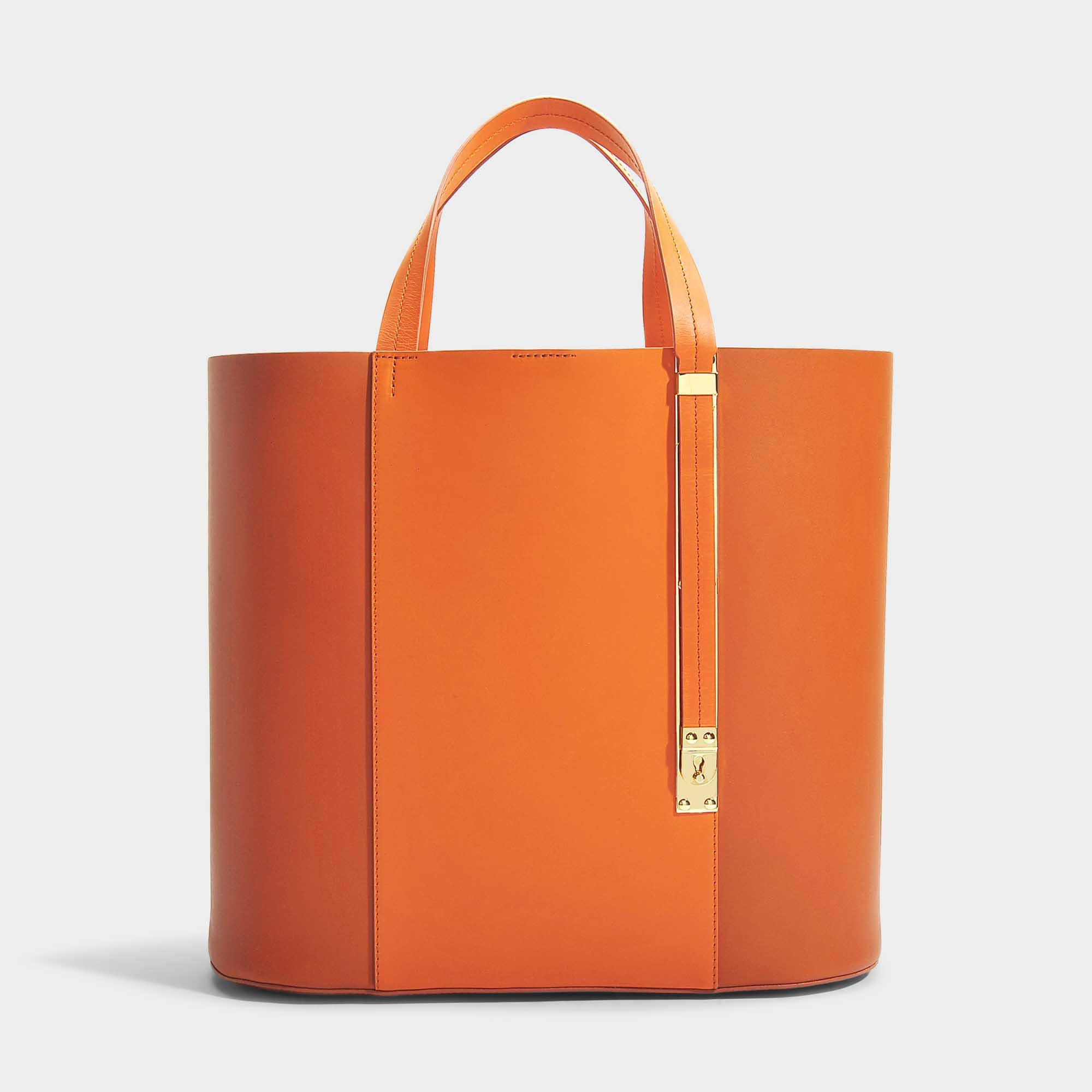The Exchange E-W Bag in Burnt Orange and Clementine Cow Leather Sophie Hulme ySigKq