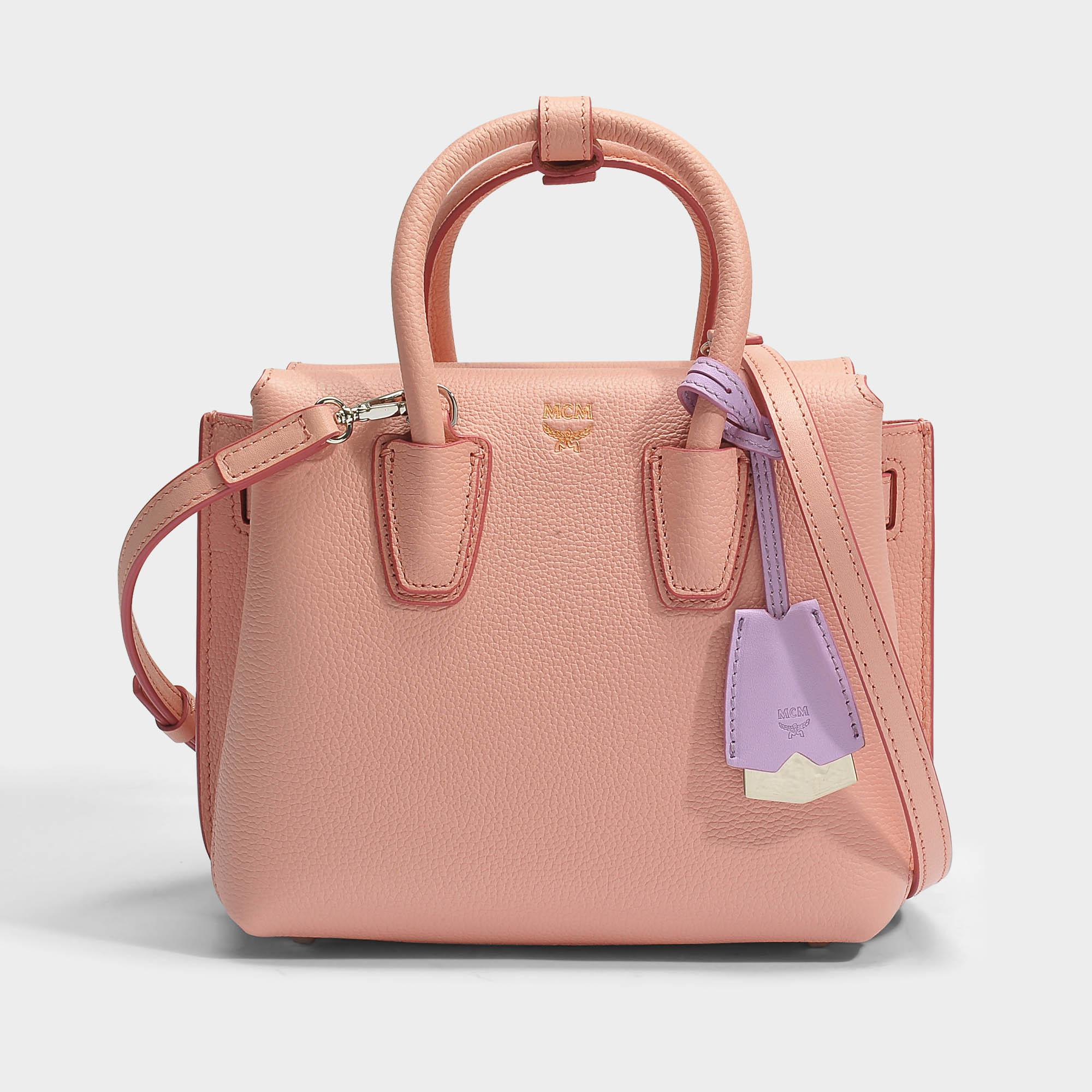Recommend For Sale Latest Collections Milla Small Tote Bag in Blush Pink Park Avenue Leather MCM lMPwoo6Rw