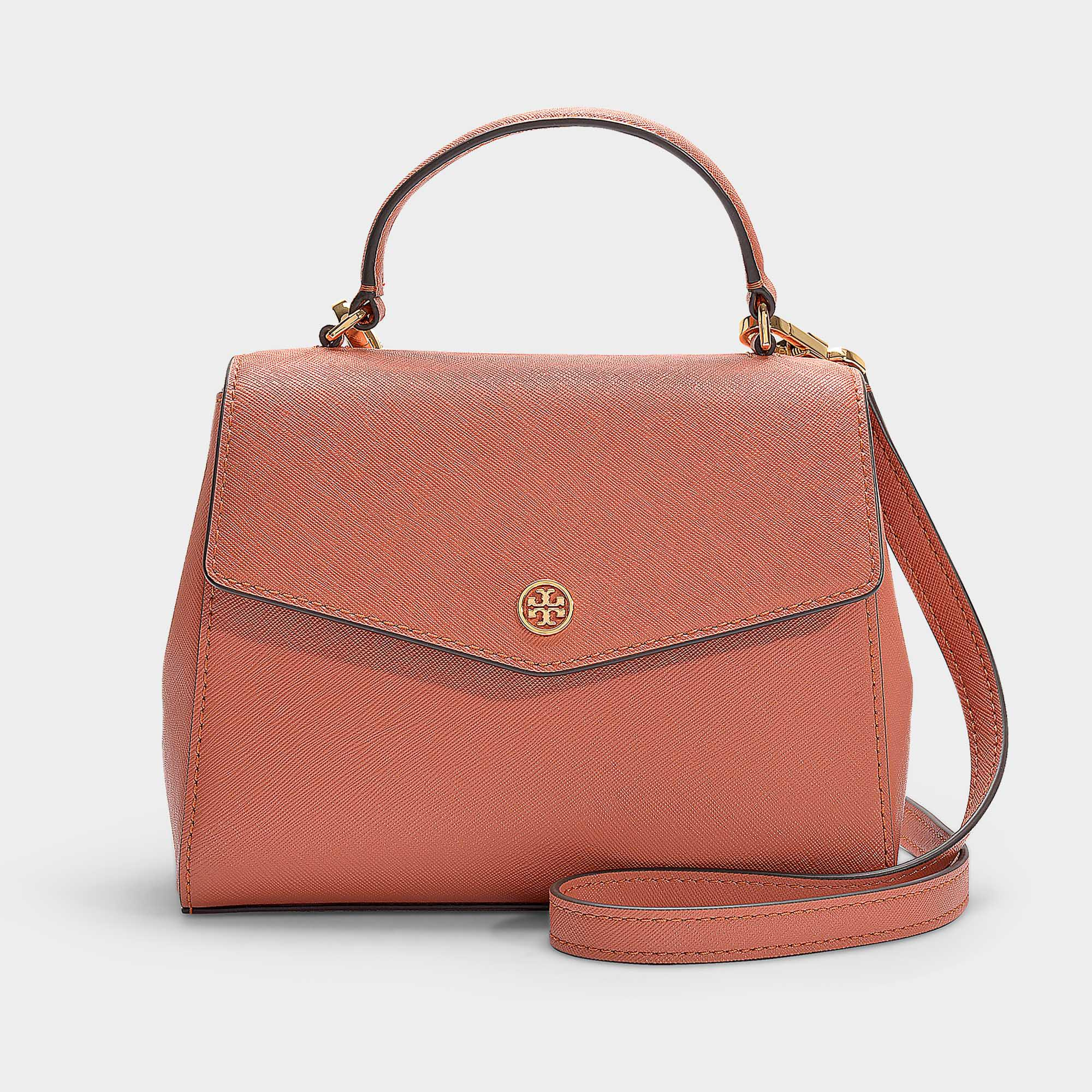 6efb717f2901 Tory Burch Robinson Small Top-handle Satchel In Tramonto Calfskin in ...