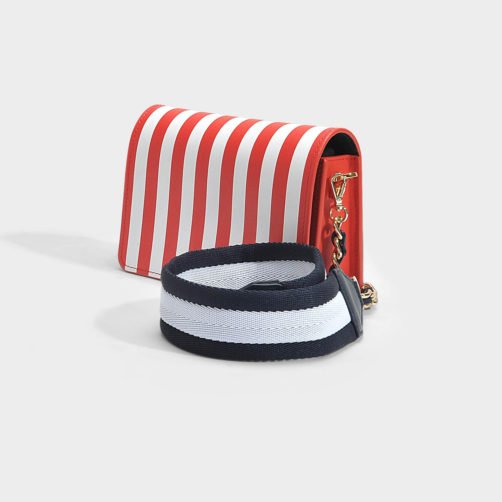 Jude Crossbody Bag in Red and White Calfskin Mother Of Pearl Clearance Online Fake Discount Good Selling Free Shipping Amazon Cheap Sale Best Place Outlet Discount nBd3lj