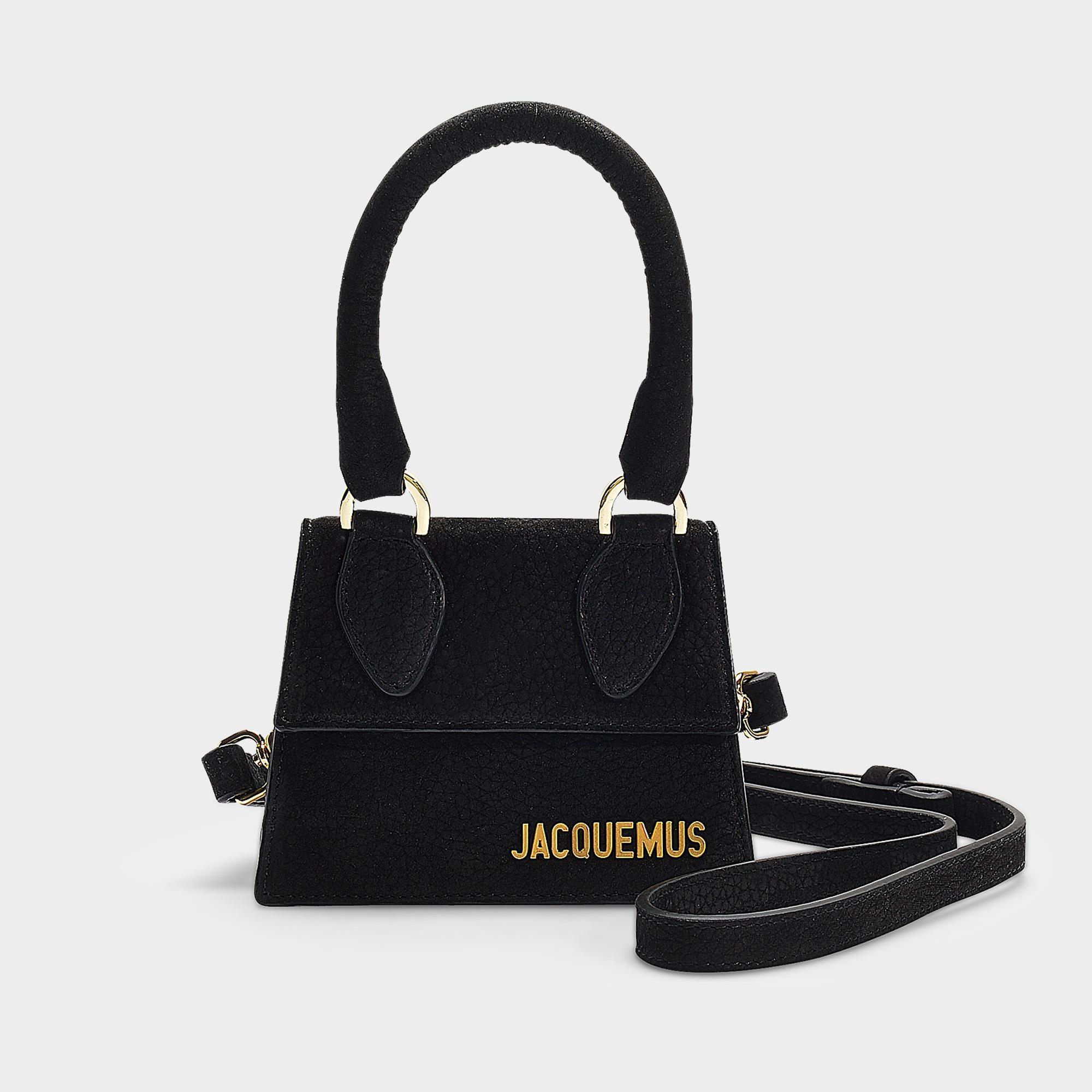Jacquemus Main Noir Sac Nubuck À Le Lyst En Coloris Chiquita thxQrsCdB