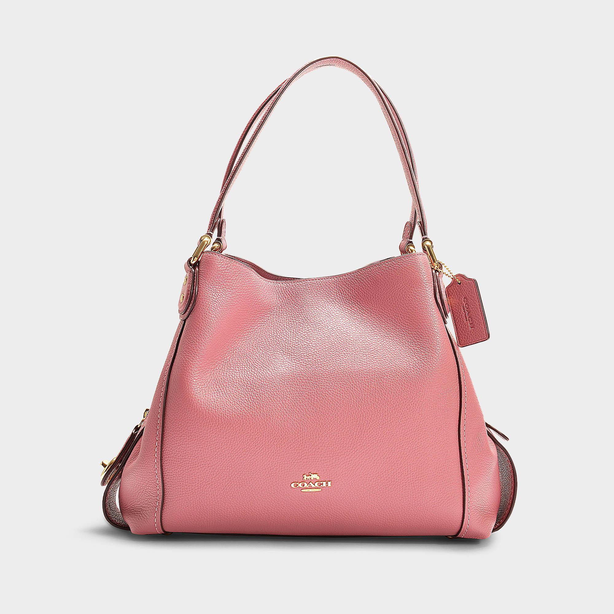 7b3e0f6ac0 Sac à main edie 31 en cuir de veau rose COACH en coloris Pink