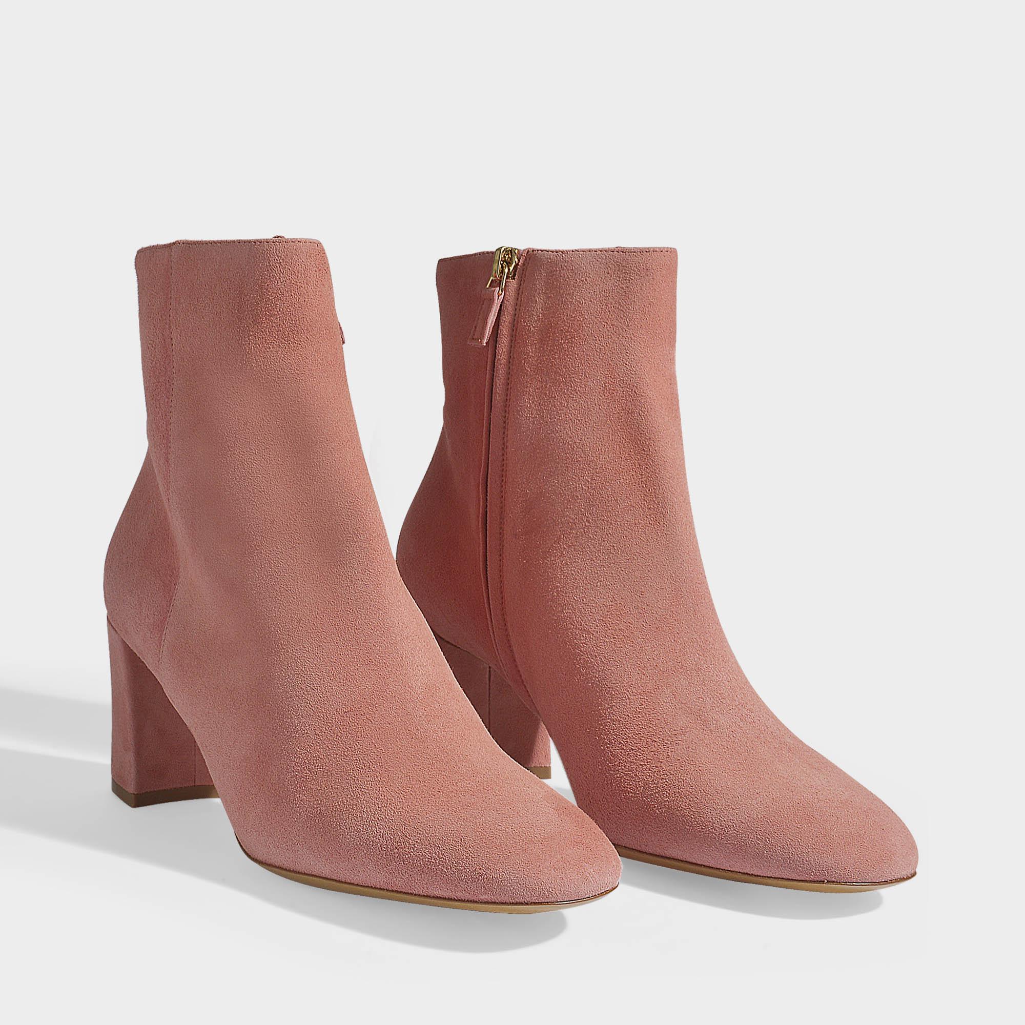 Mansur Gavriel Ankle Boots In Blush