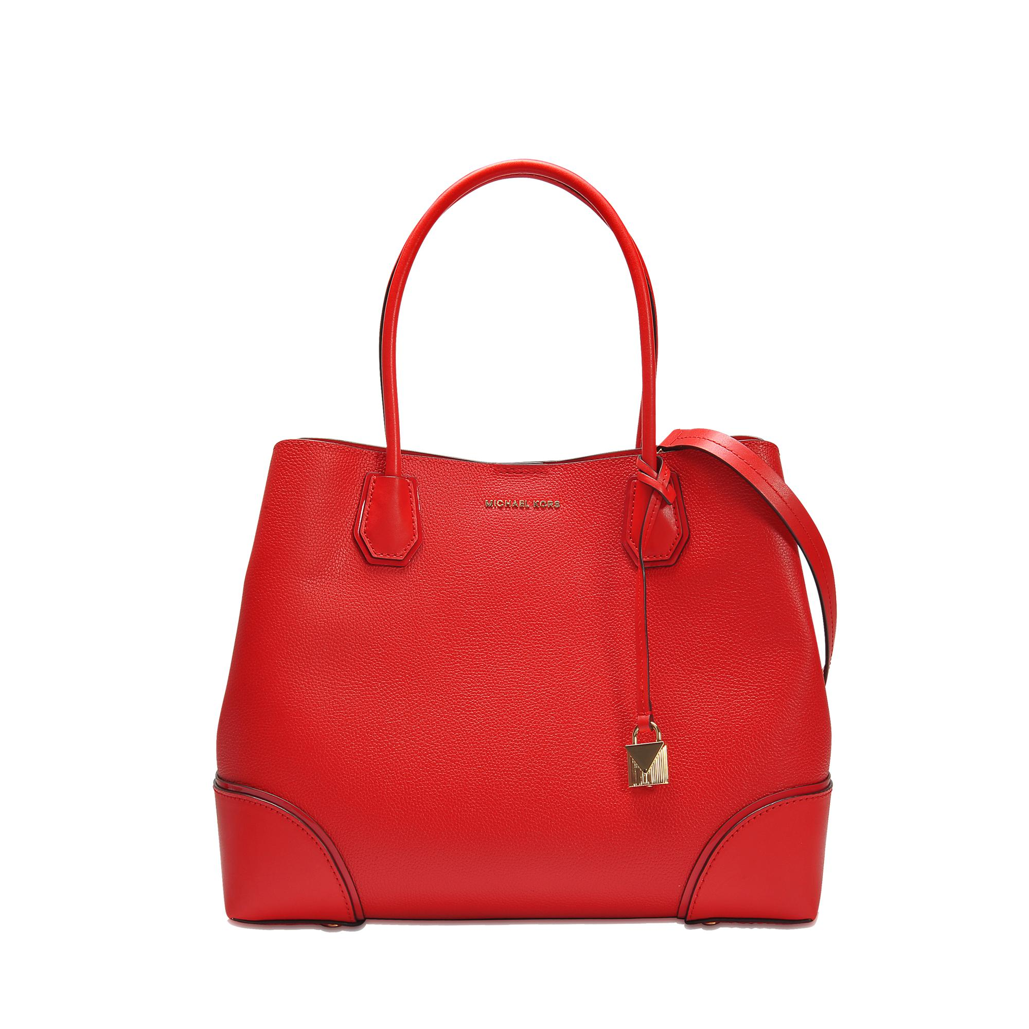 92eb1bdf56eb MICHAEL Michael Kors Annie Large Center Zip Tote in Red - Lyst