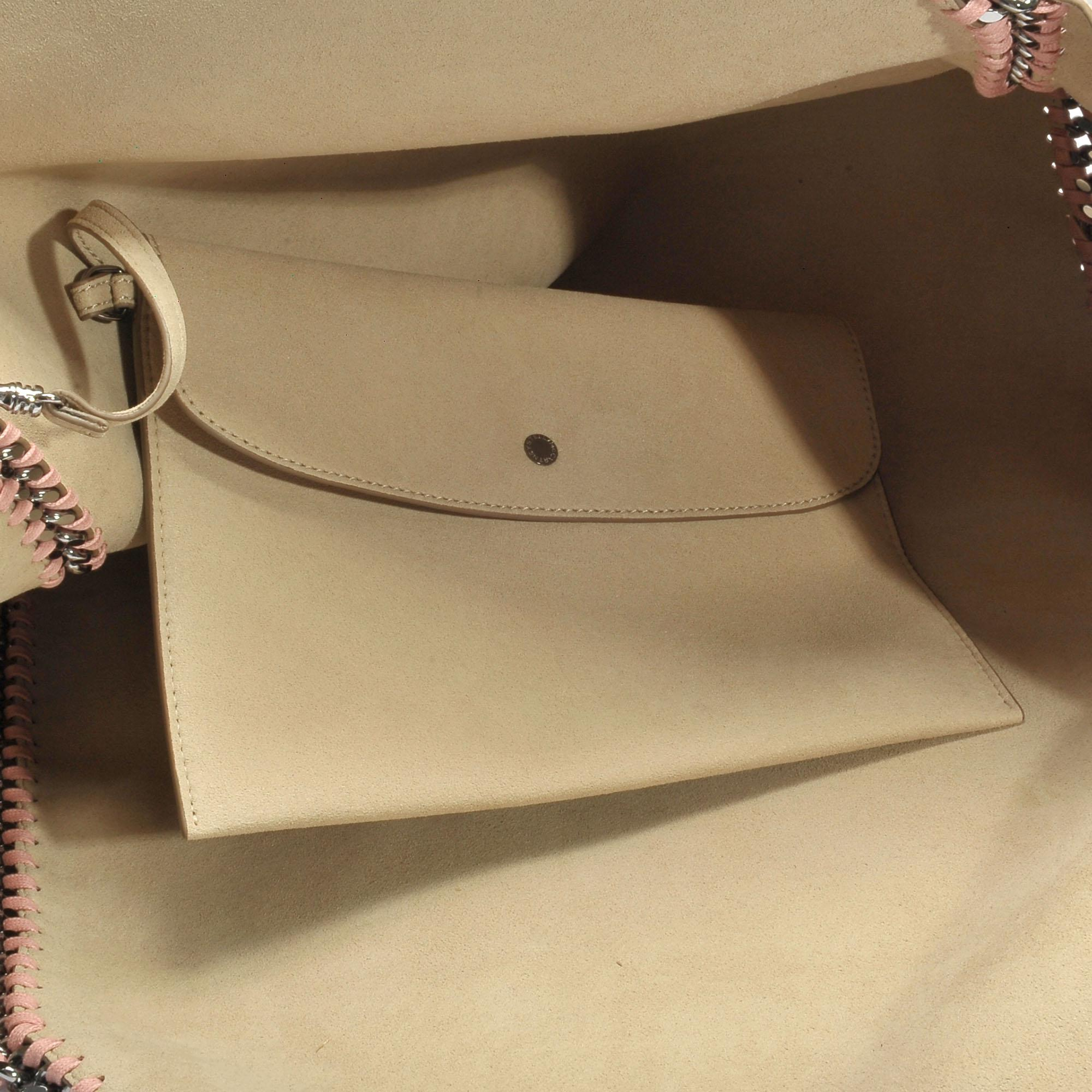 Stella McCartney Leather Reversible Falabella Small Tote Bag In Blush Synthetic Material in Pink