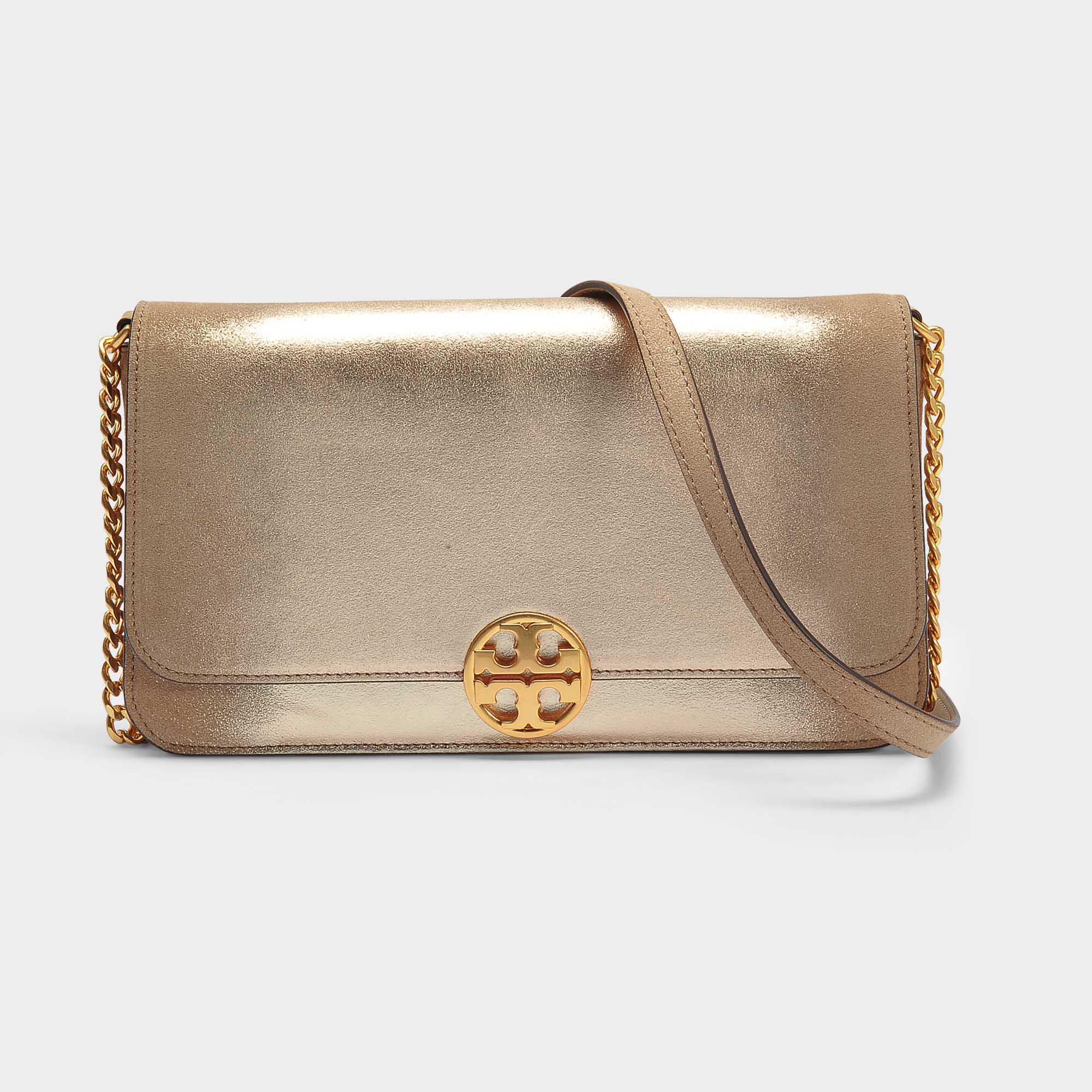 Chelsea Convertible Clutch Bag in Black Calfskin Tory Burch KxVNy
