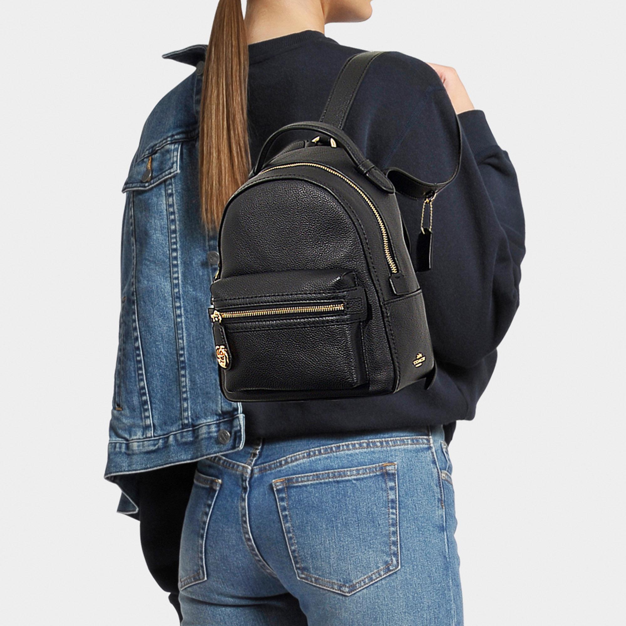 Campus Backpack 23 In Black Calfskin