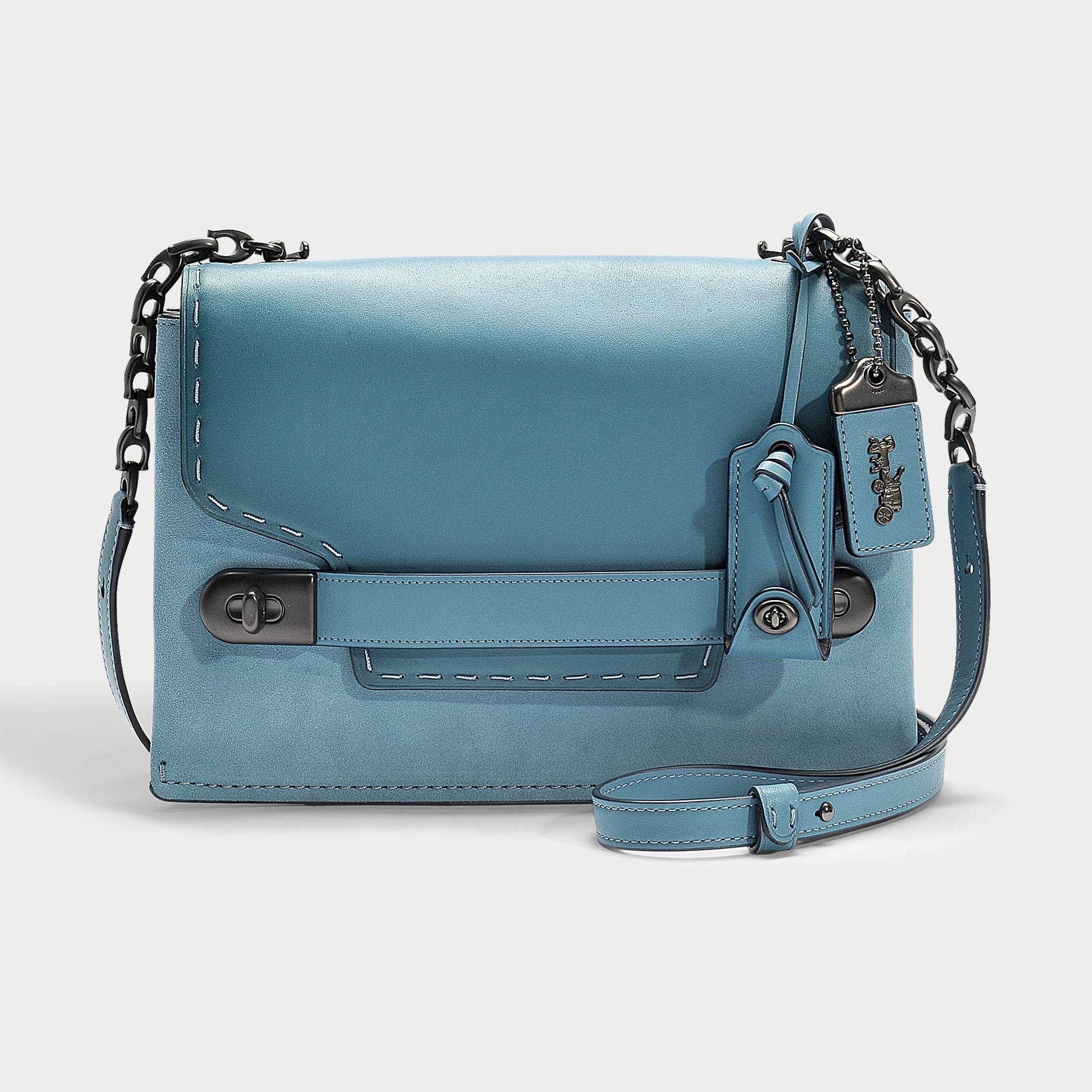 be42517e COACH Blue Swagger Chain Crossbody In Colorblock