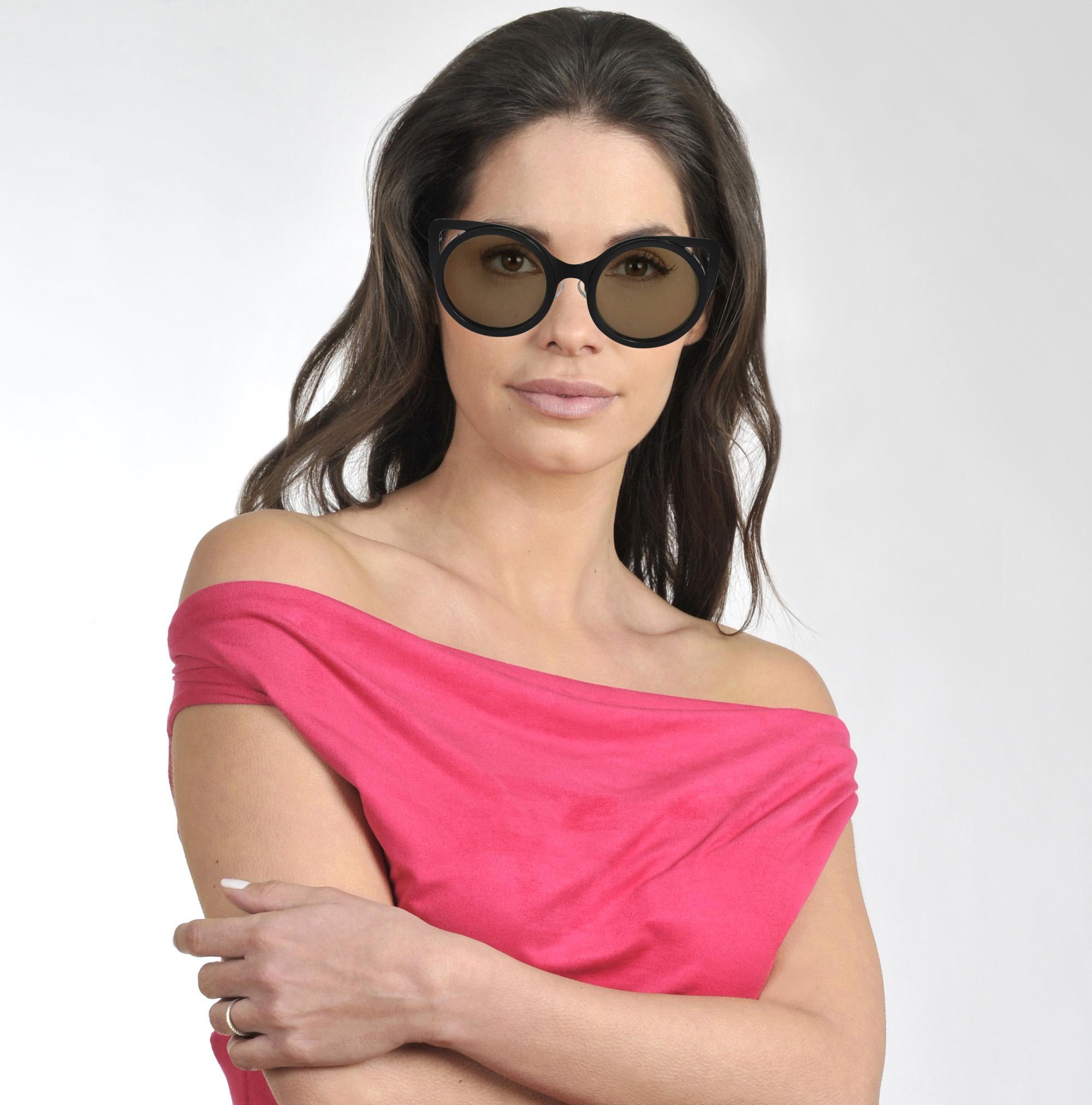 Linda Farrow Erdem & Edm4c9sun Sunglasses in Black