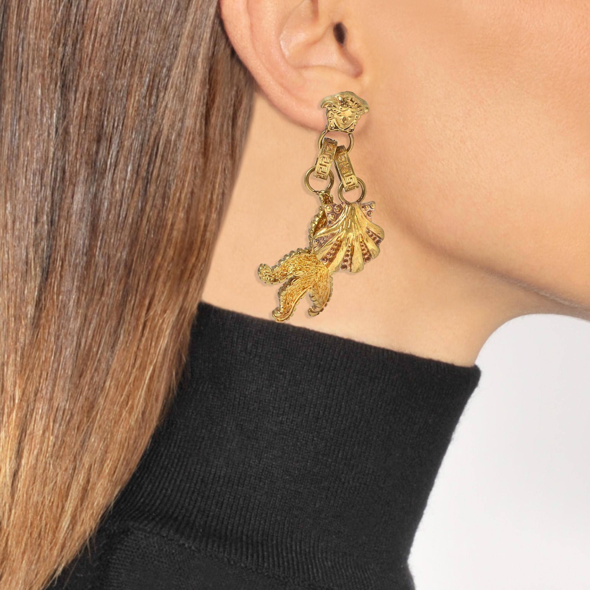 7d3a844c7 Versace Tribute Trésor De La Mer Earrings In Gold Metal in Metallic ...