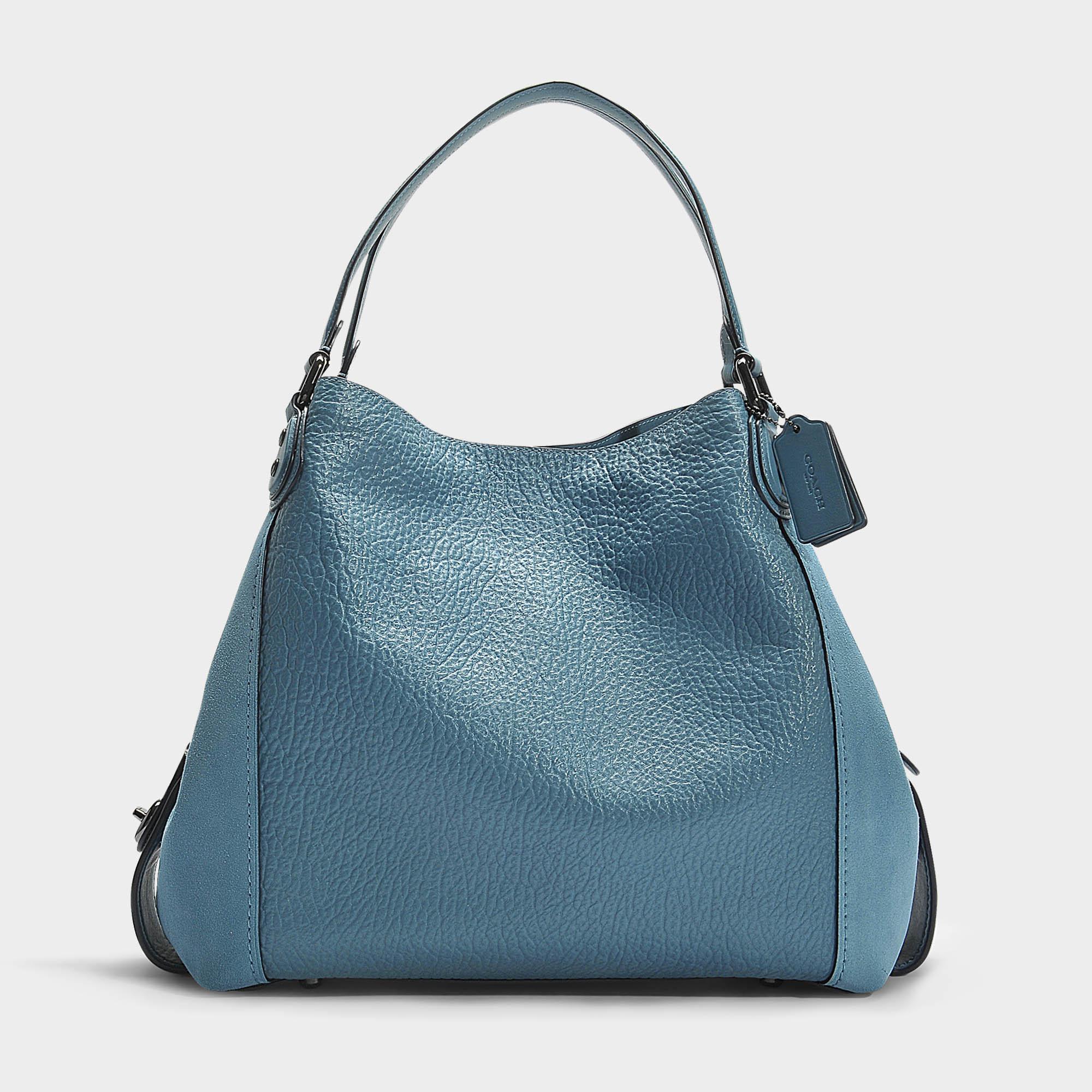 Edie 42 Shoulder Bag In Chambray Calfskin