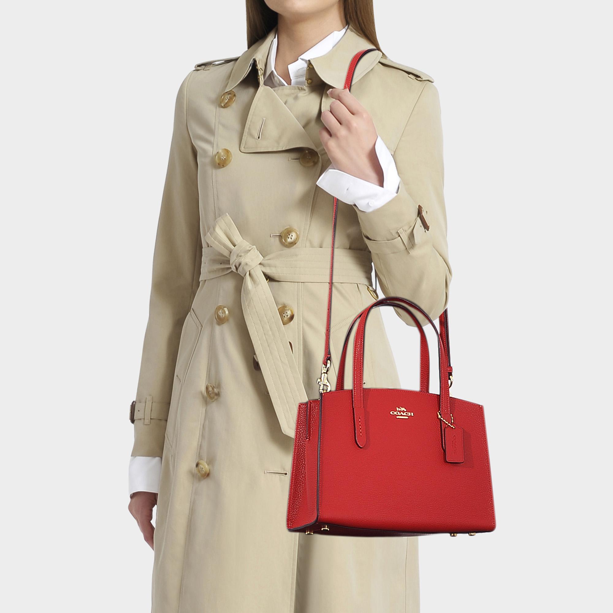 Charlie 28 Carryall Bag In Red Calfskin